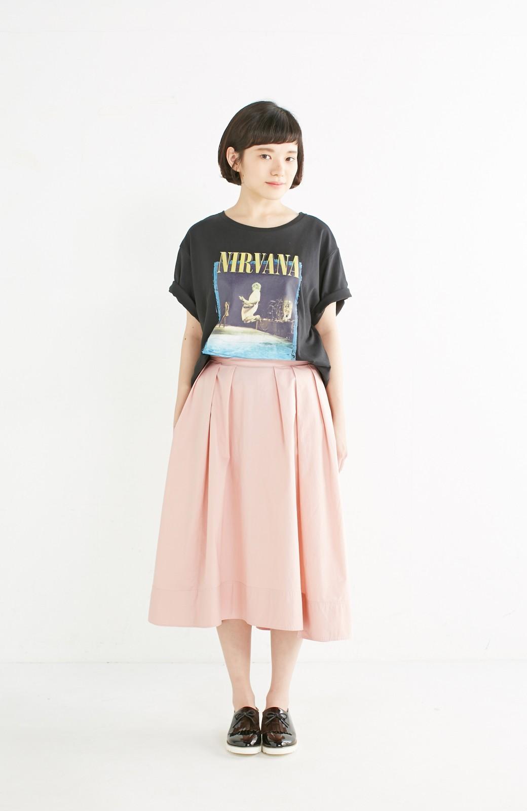 エムトロワ きれい色のイレギュラーヘムスカート <ピンク>の商品写真7