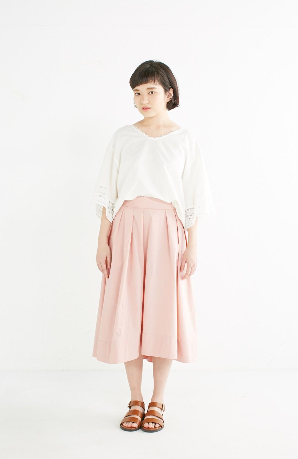 エムトロワ きれい色のイレギュラーヘムスカート <ピンク>の商品写真8