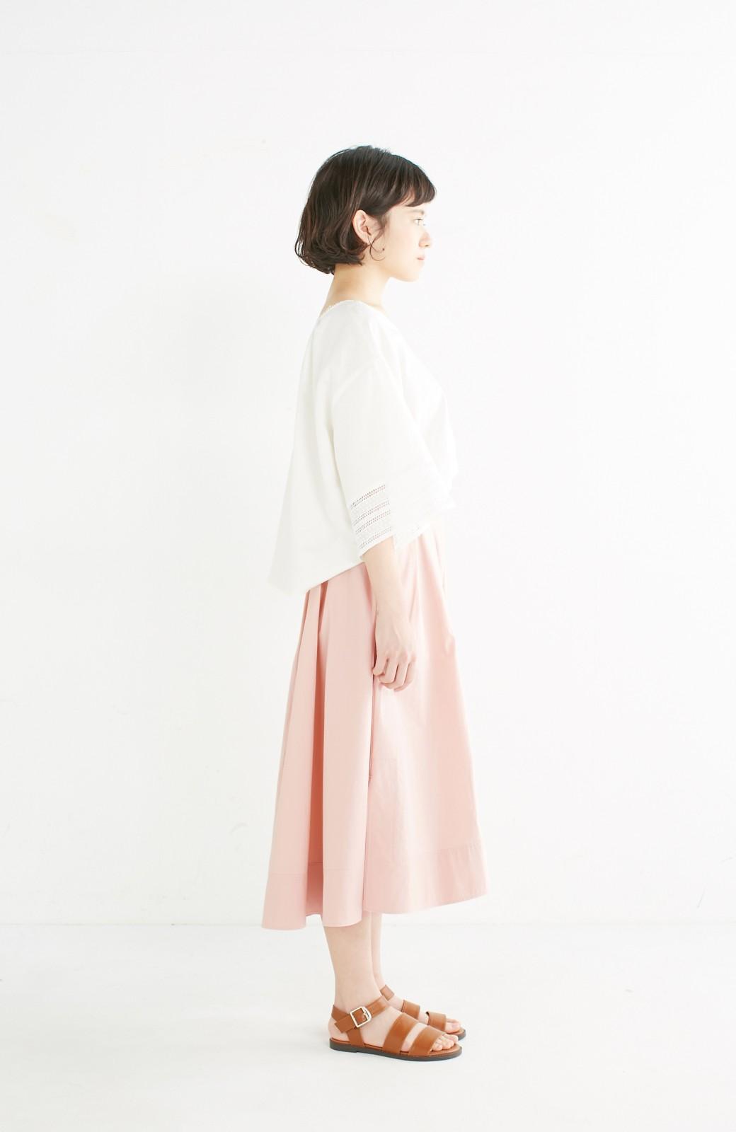 エムトロワ きれい色のイレギュラーヘムスカート <ピンク>の商品写真9