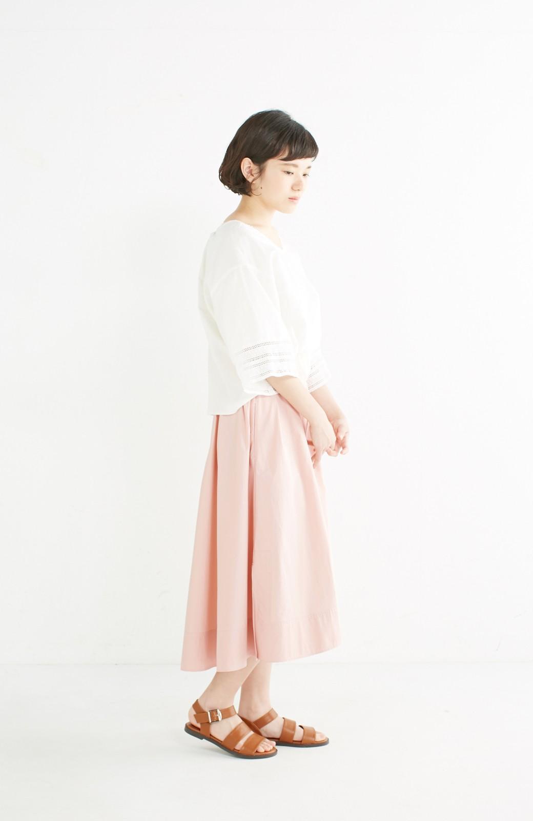 エムトロワ きれい色のイレギュラーヘムスカート <ピンク>の商品写真10