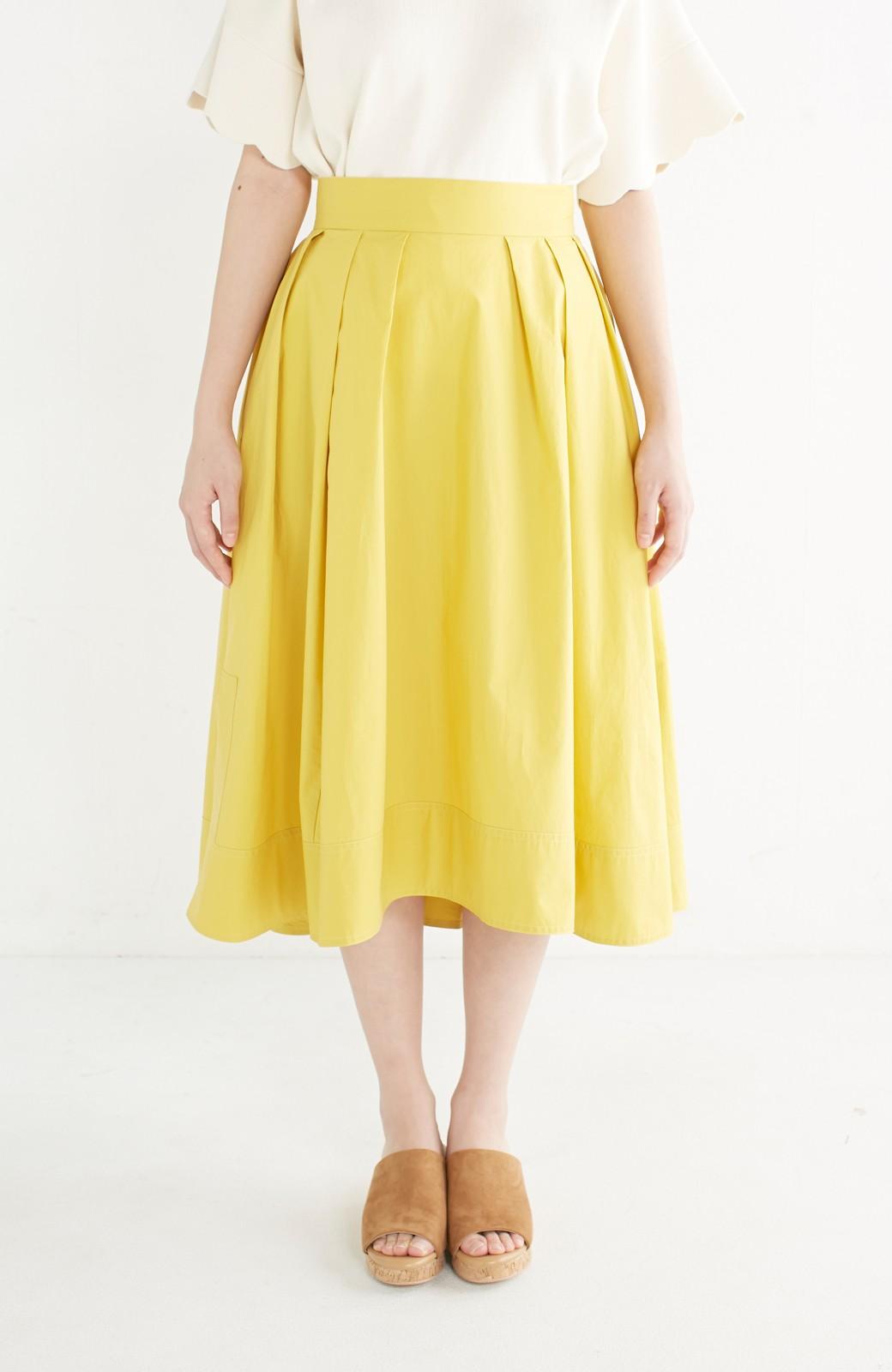 エムトロワ きれい色のイレギュラーヘムスカート <イエロー>の商品写真3