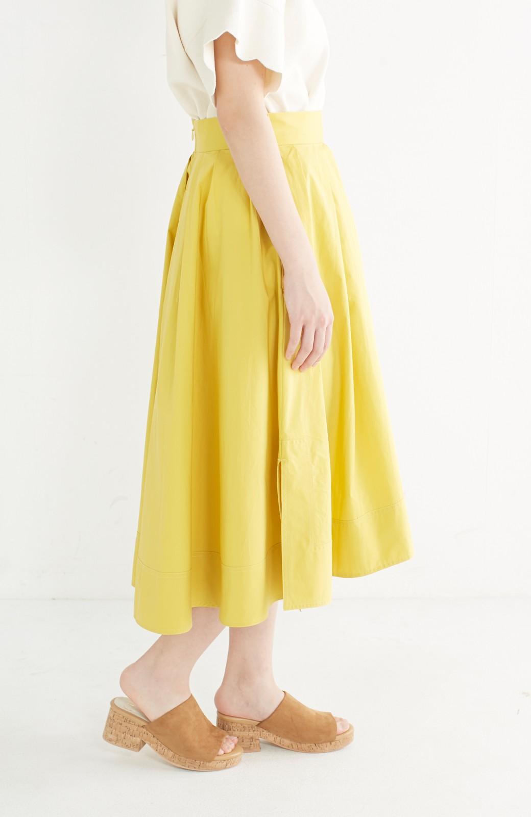エムトロワ きれい色のイレギュラーヘムスカート <イエロー>の商品写真4