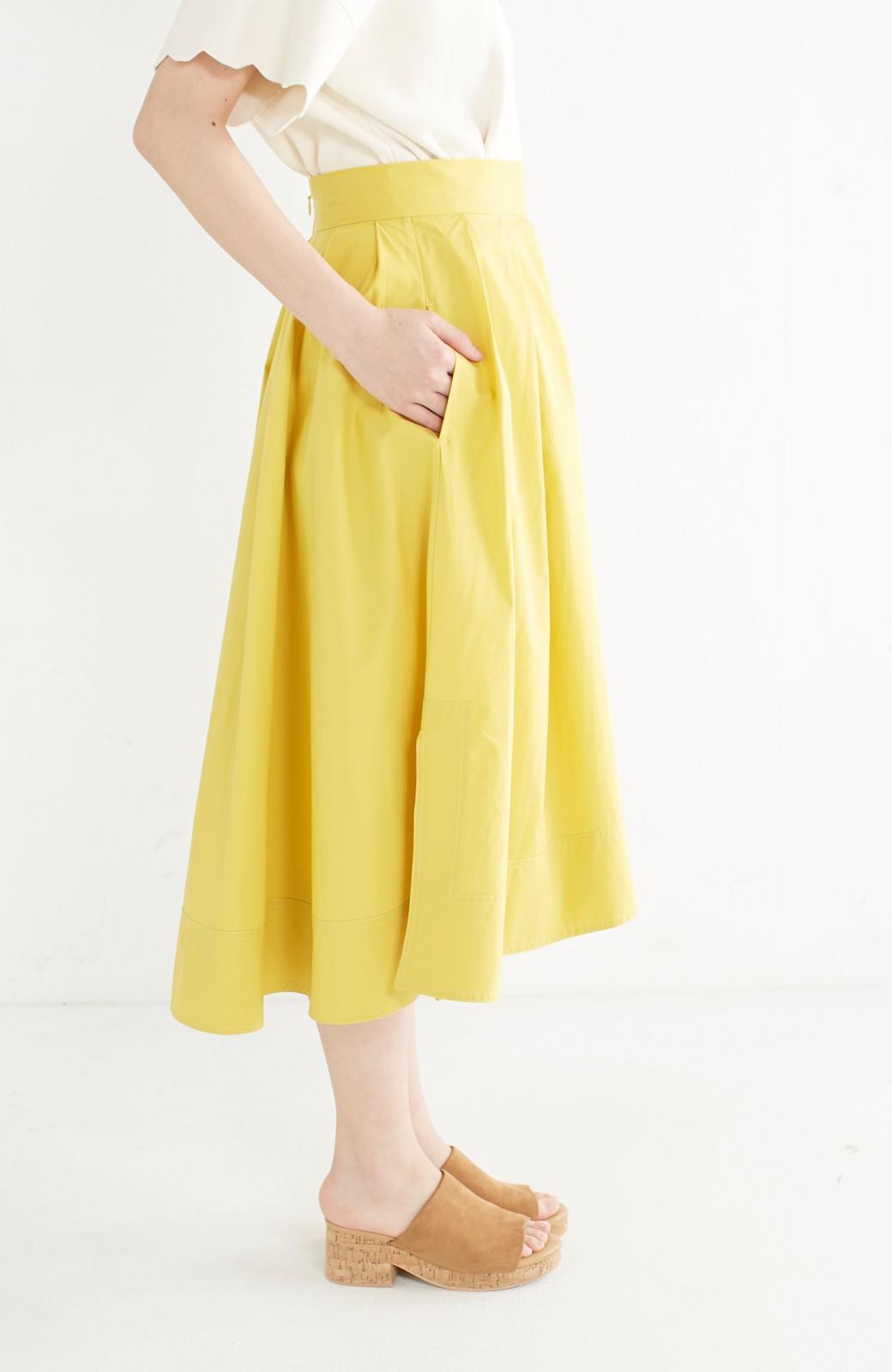 エムトロワ きれい色のイレギュラーヘムスカート <イエロー>の商品写真5