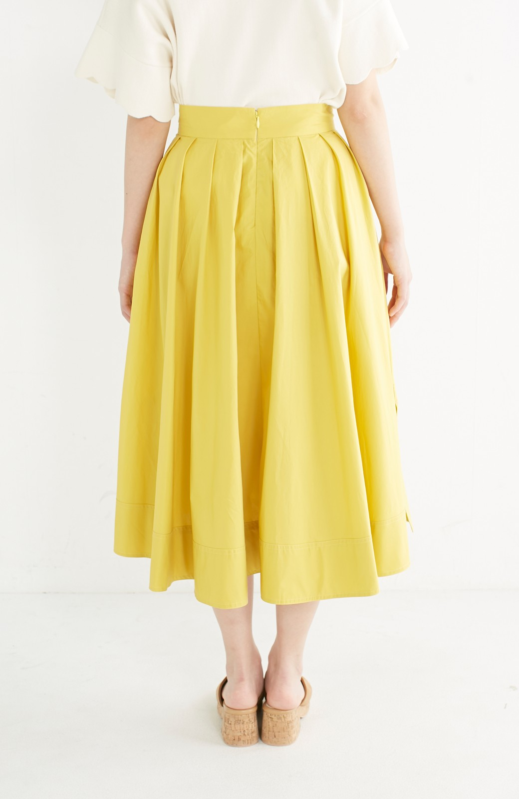 エムトロワ きれい色のイレギュラーヘムスカート <イエロー>の商品写真6