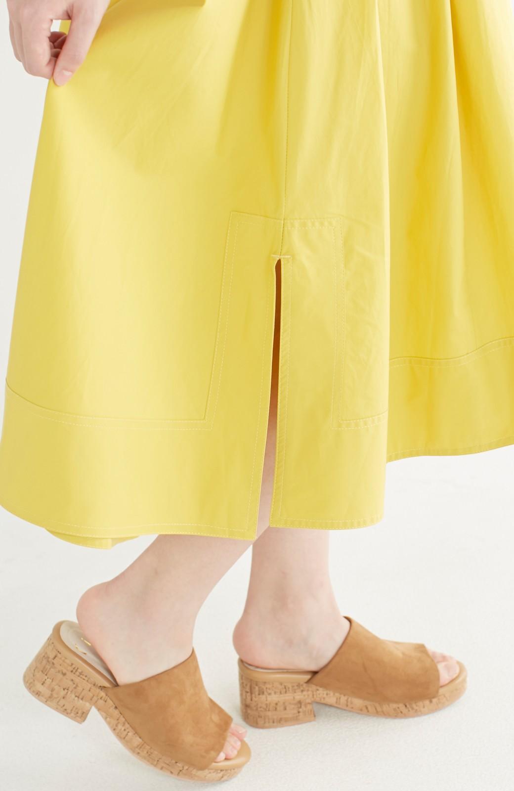 エムトロワ きれい色のイレギュラーヘムスカート <イエロー>の商品写真7