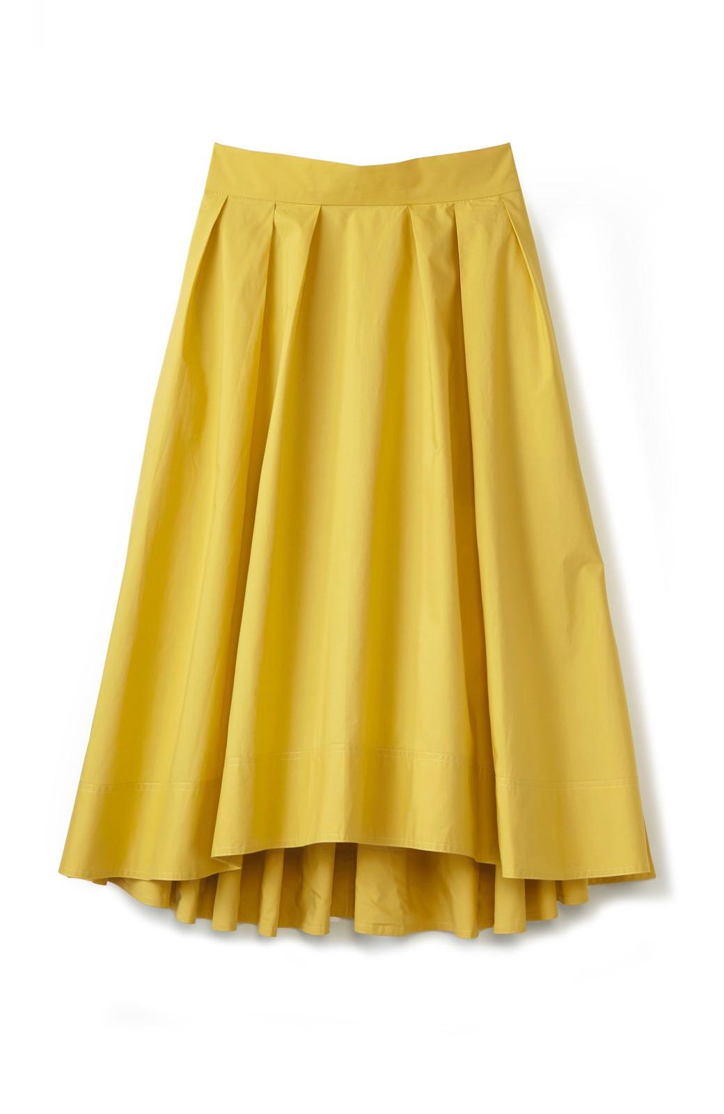 エムトロワ きれい色のイレギュラーヘムスカート <イエロー>の商品写真1