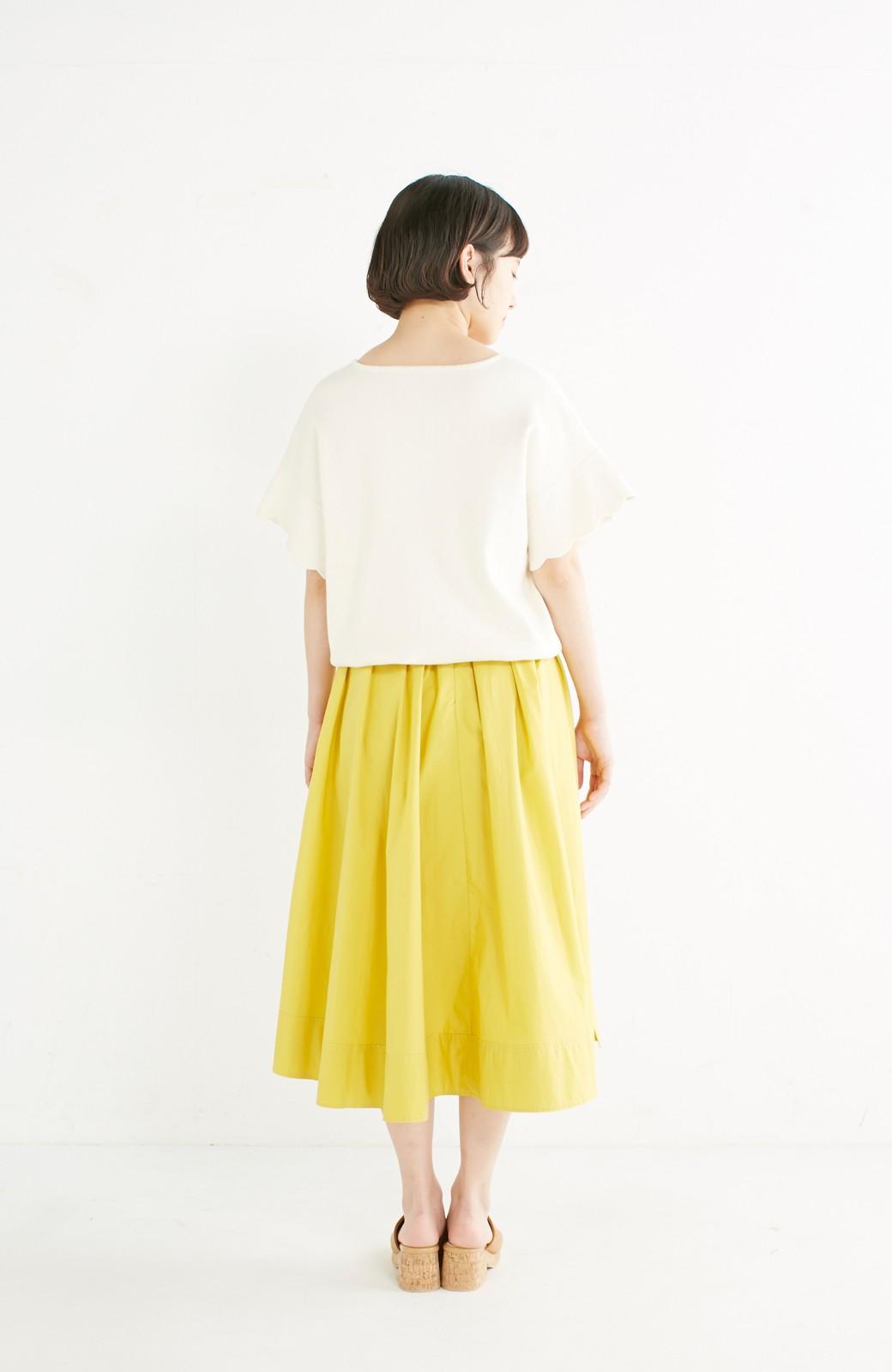 エムトロワ きれい色のイレギュラーヘムスカート <イエロー>の商品写真12