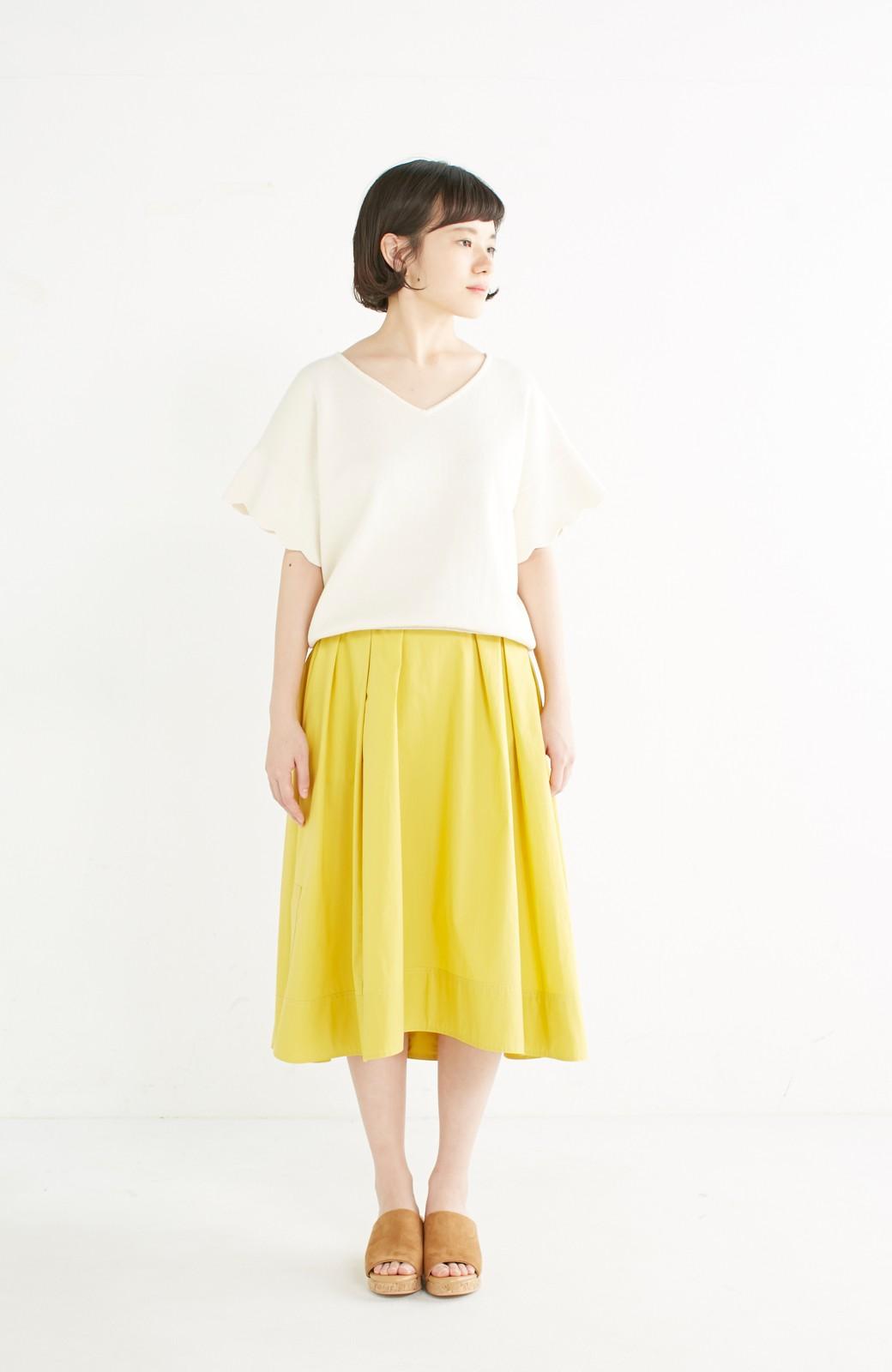 エムトロワ きれい色のイレギュラーヘムスカート <イエロー>の商品写真8