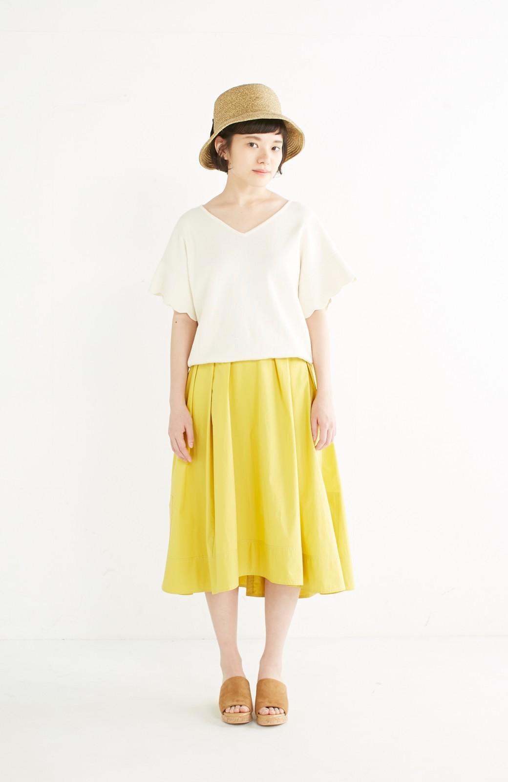 エムトロワ きれい色のイレギュラーヘムスカート <イエロー>の商品写真9