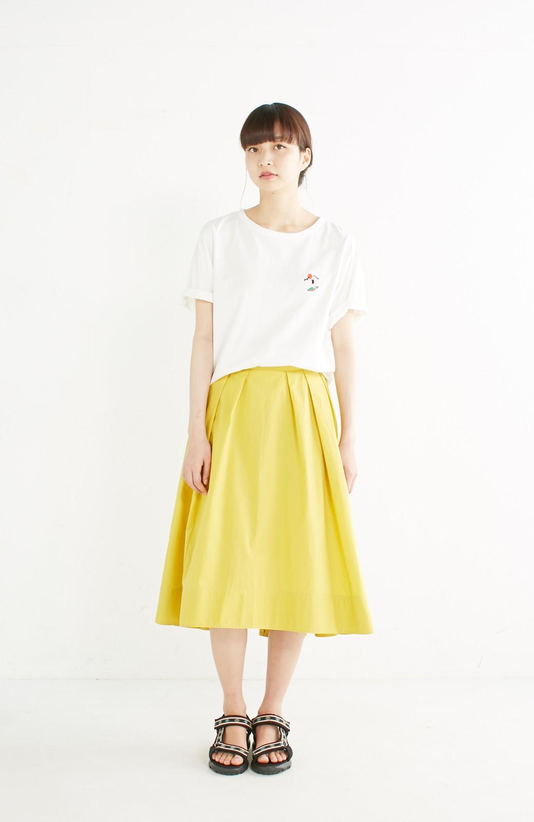 エムトロワ きれい色のイレギュラーヘムスカート <イエロー>の商品写真10