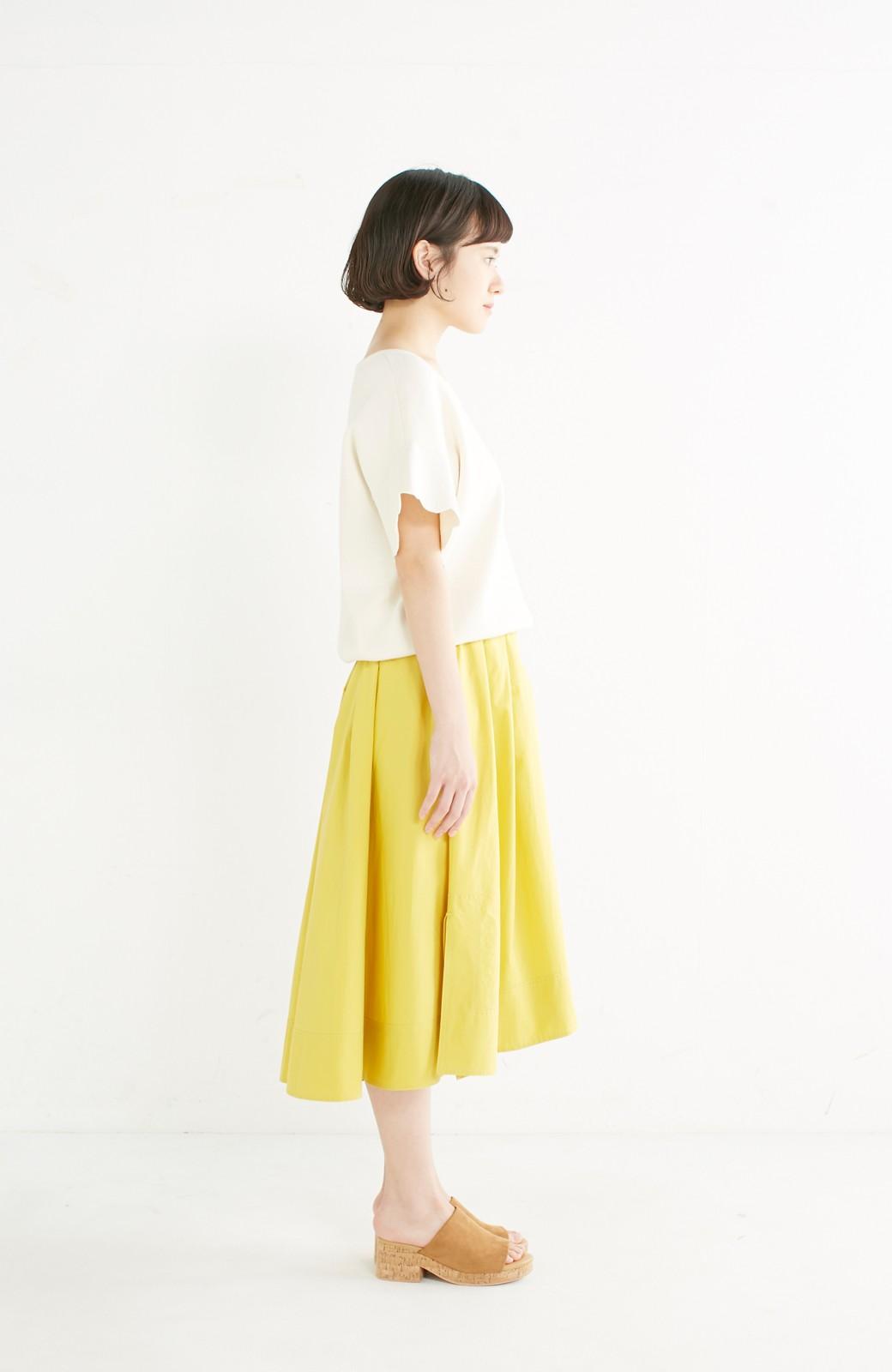 エムトロワ きれい色のイレギュラーヘムスカート <イエロー>の商品写真11