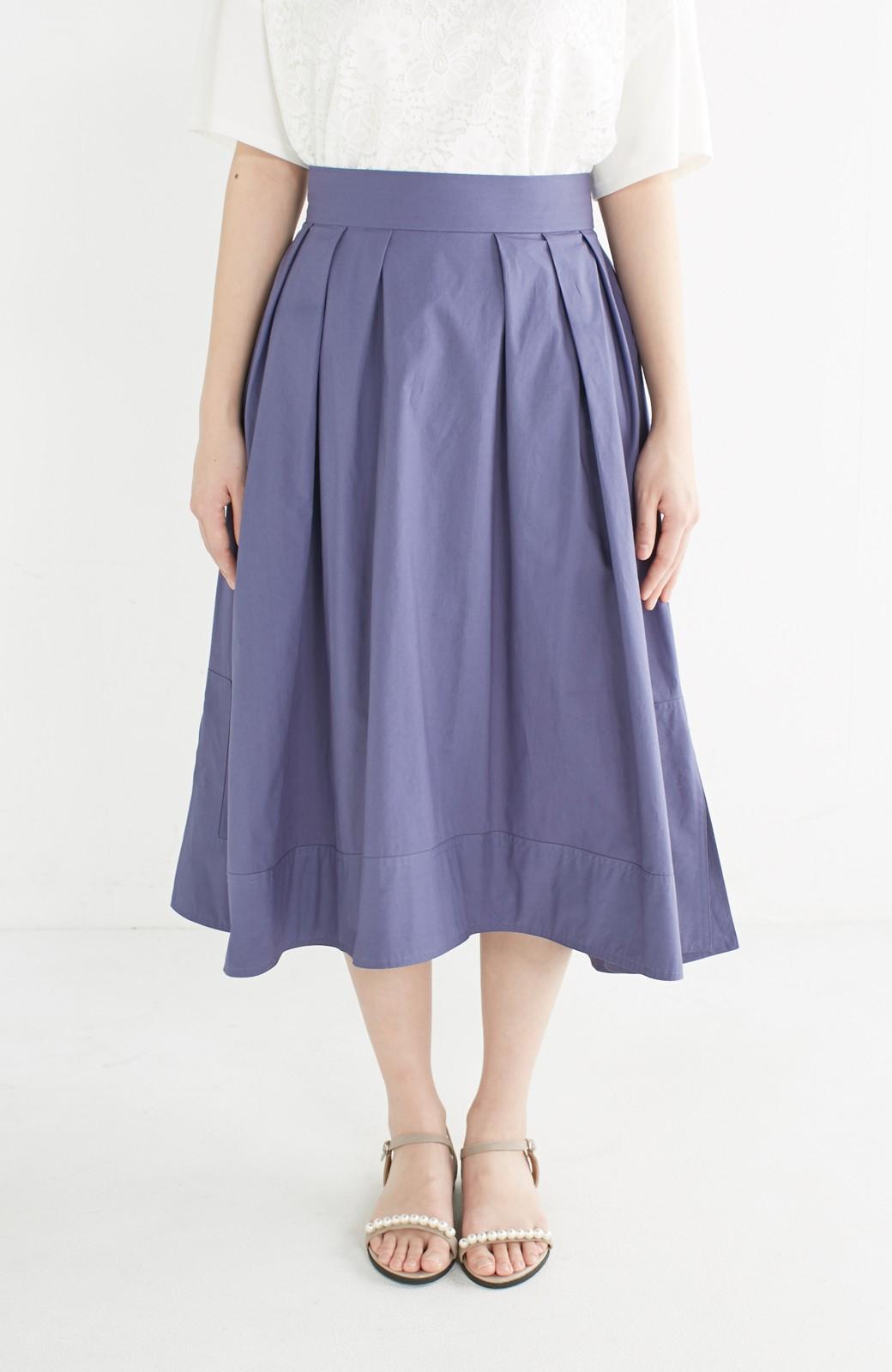 エムトロワ きれい色のイレギュラーヘムスカート <ブルー>の商品写真3