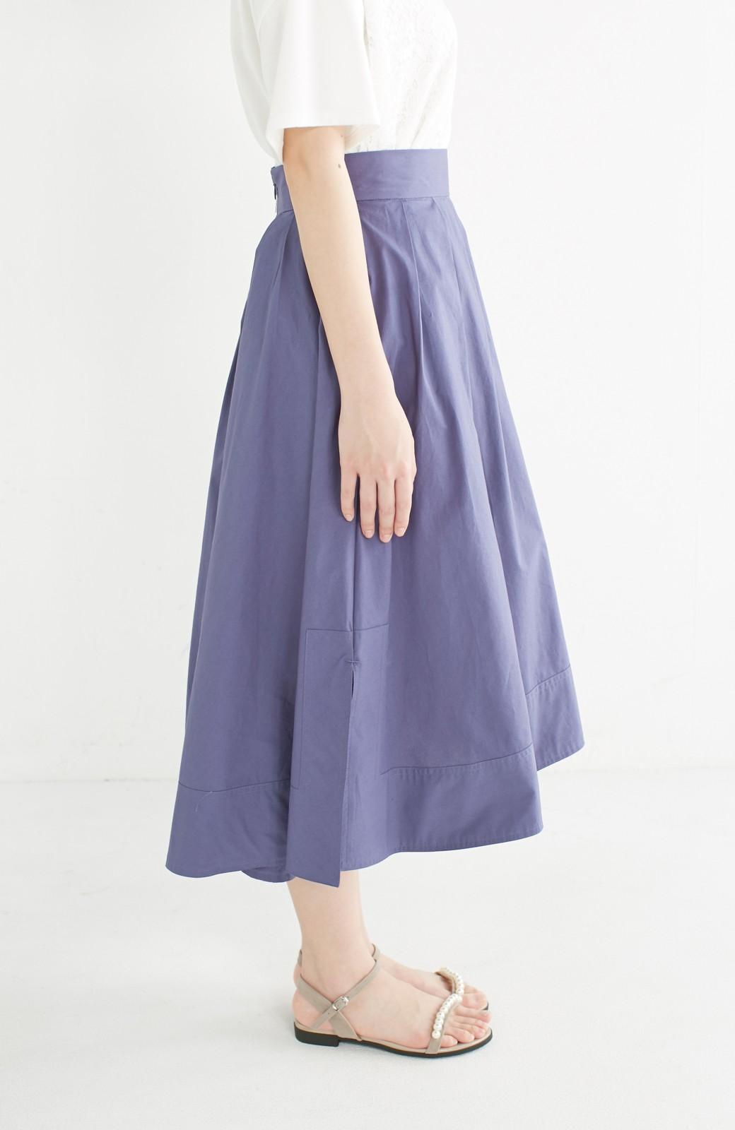 エムトロワ きれい色のイレギュラーヘムスカート <ブルー>の商品写真4
