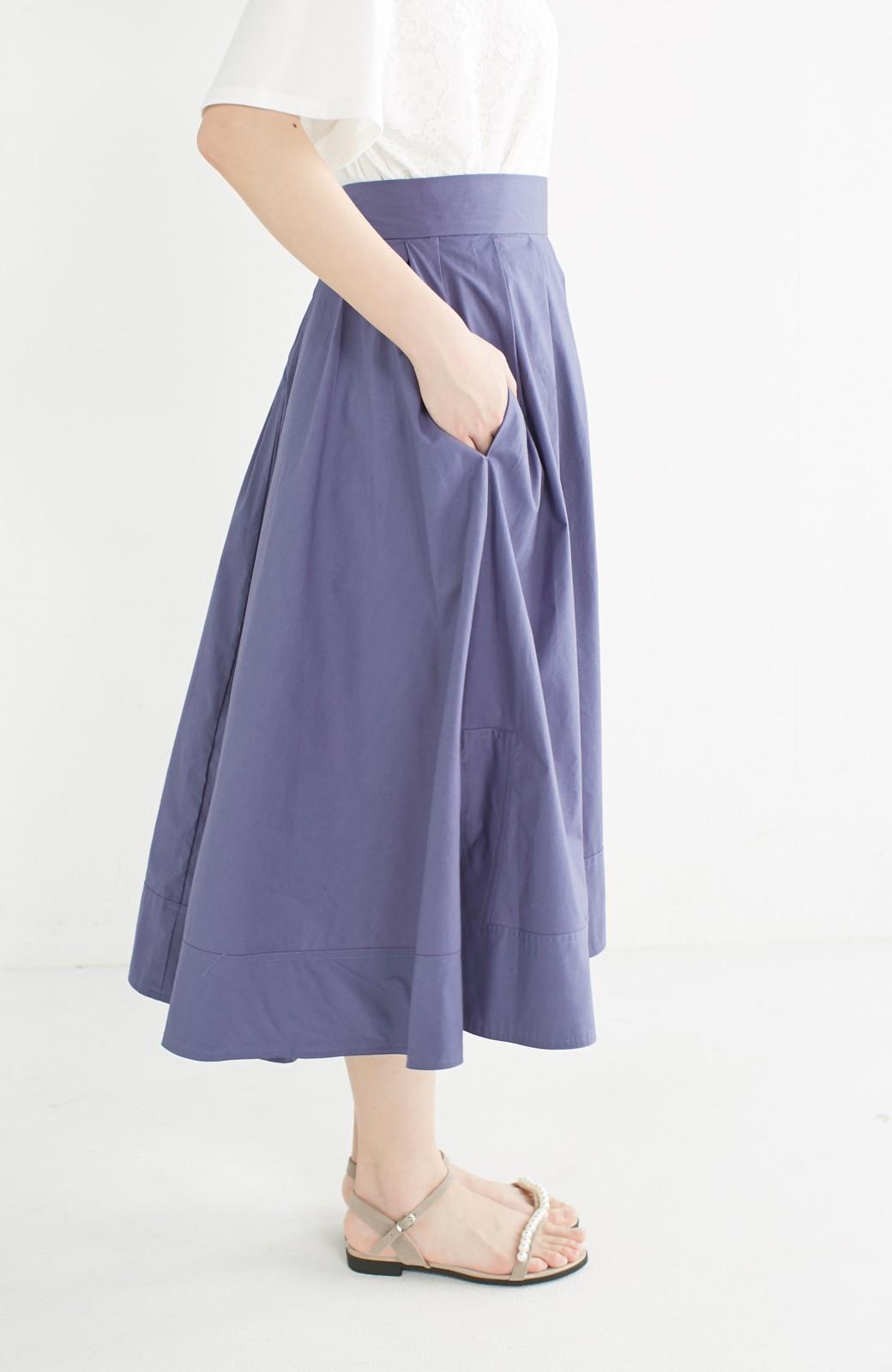 エムトロワ きれい色のイレギュラーヘムスカート <ブルー>の商品写真5