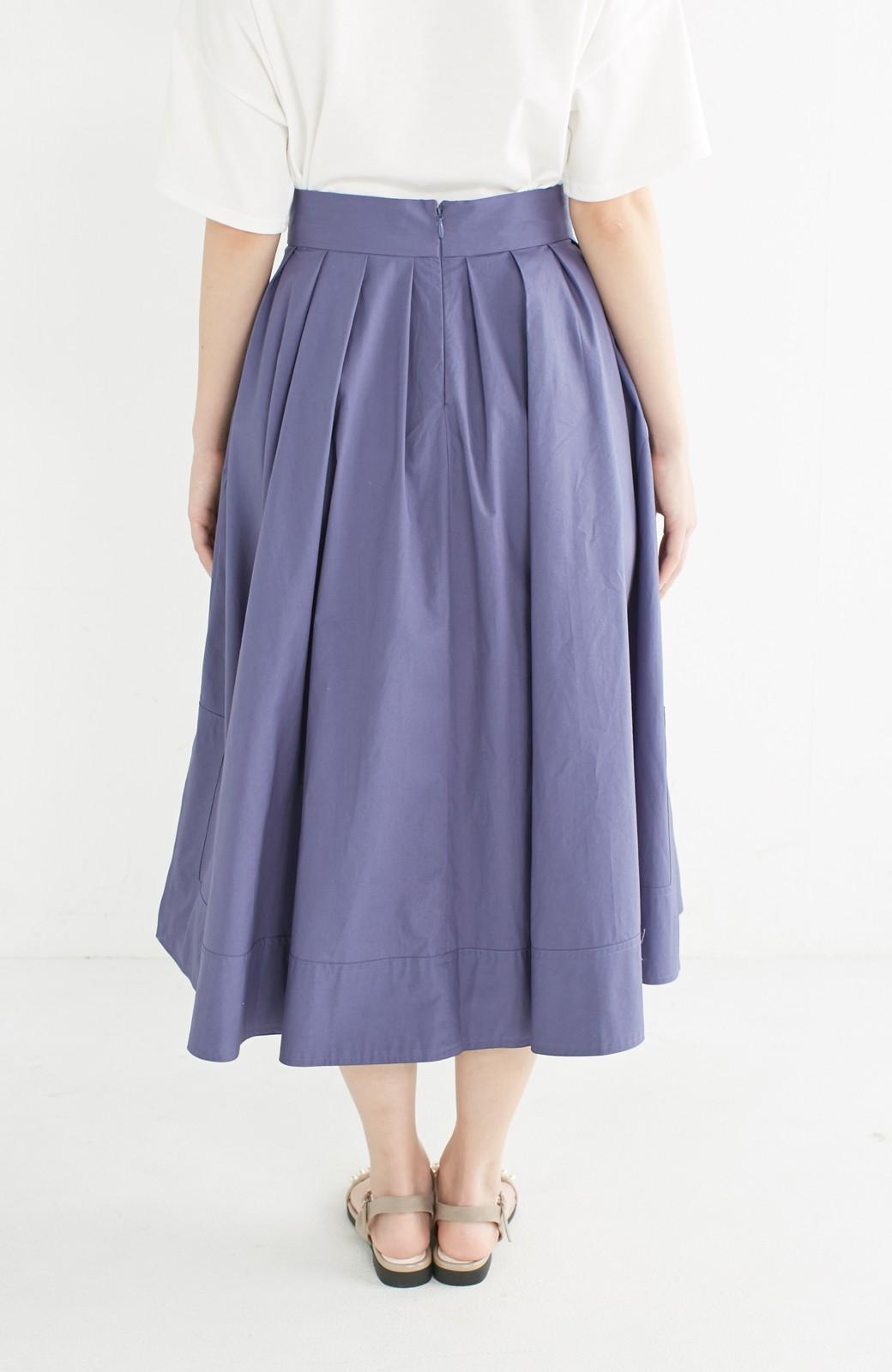 エムトロワ きれい色のイレギュラーヘムスカート <ブルー>の商品写真6