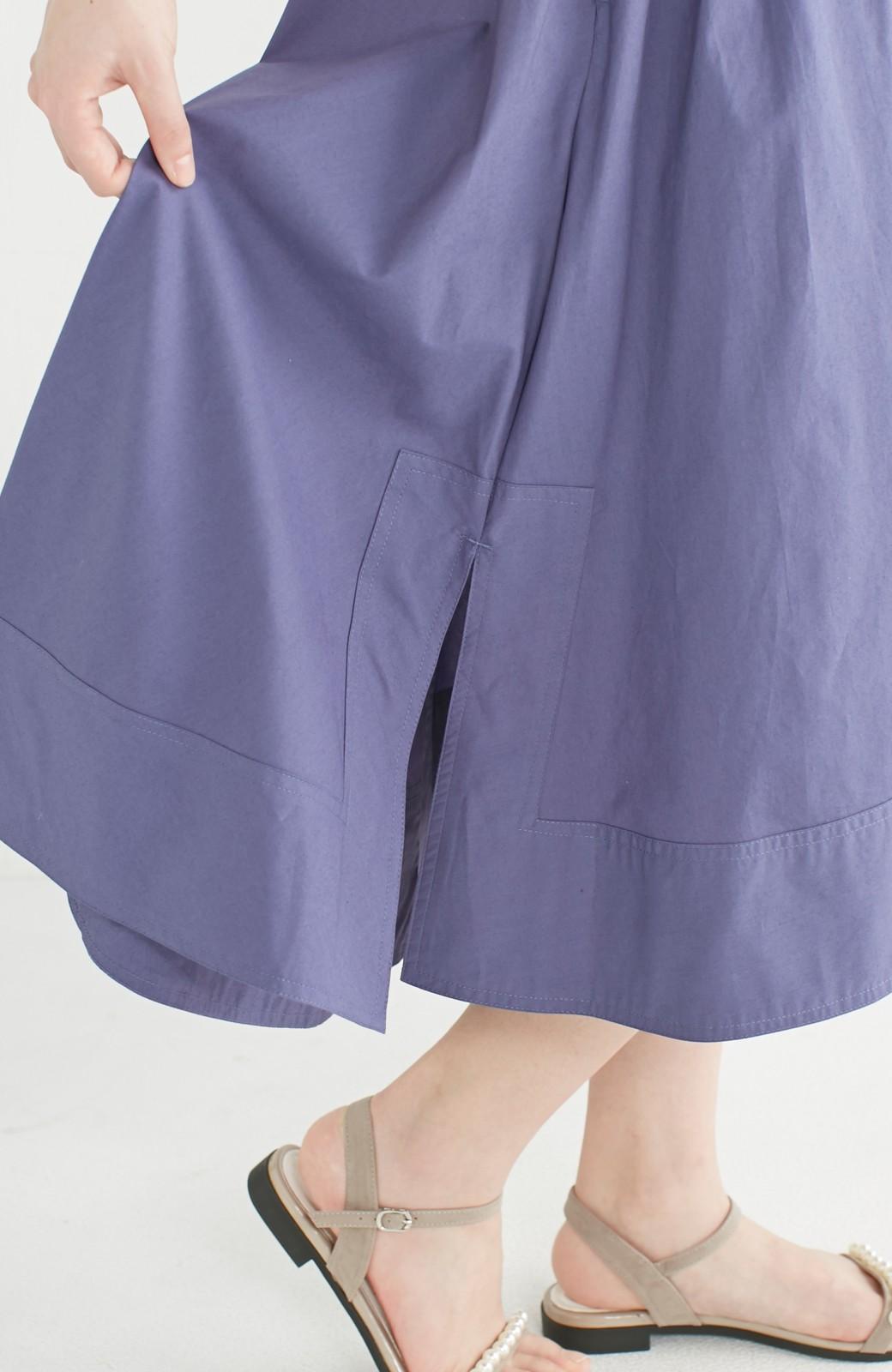 エムトロワ きれい色のイレギュラーヘムスカート <ブルー>の商品写真7