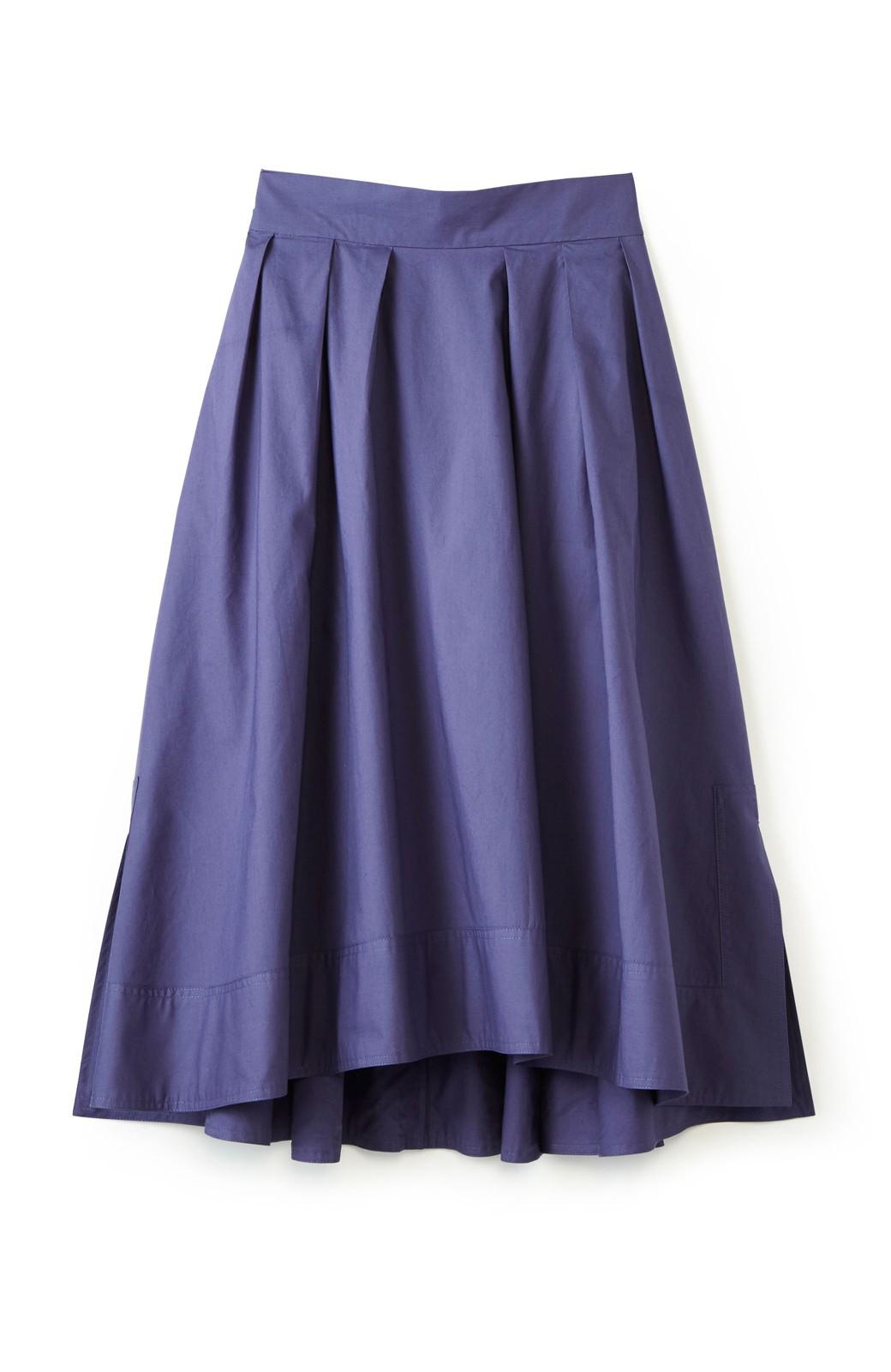 エムトロワ きれい色のイレギュラーヘムスカート <ブルー>の商品写真1
