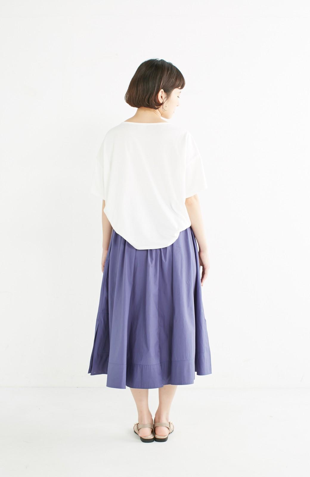 エムトロワ きれい色のイレギュラーヘムスカート <ブルー>の商品写真12