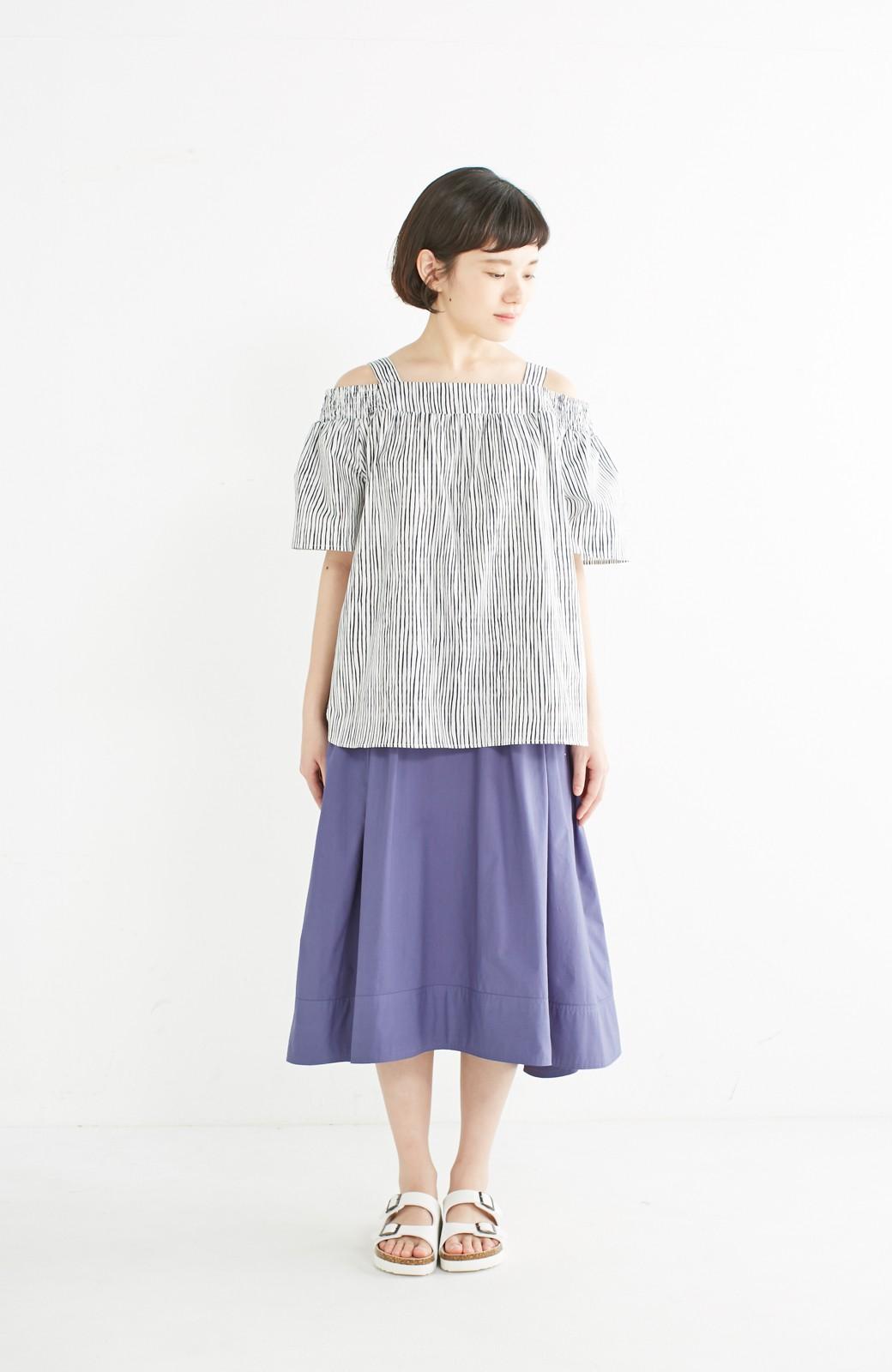 エムトロワ きれい色のイレギュラーヘムスカート <ブルー>の商品写真8