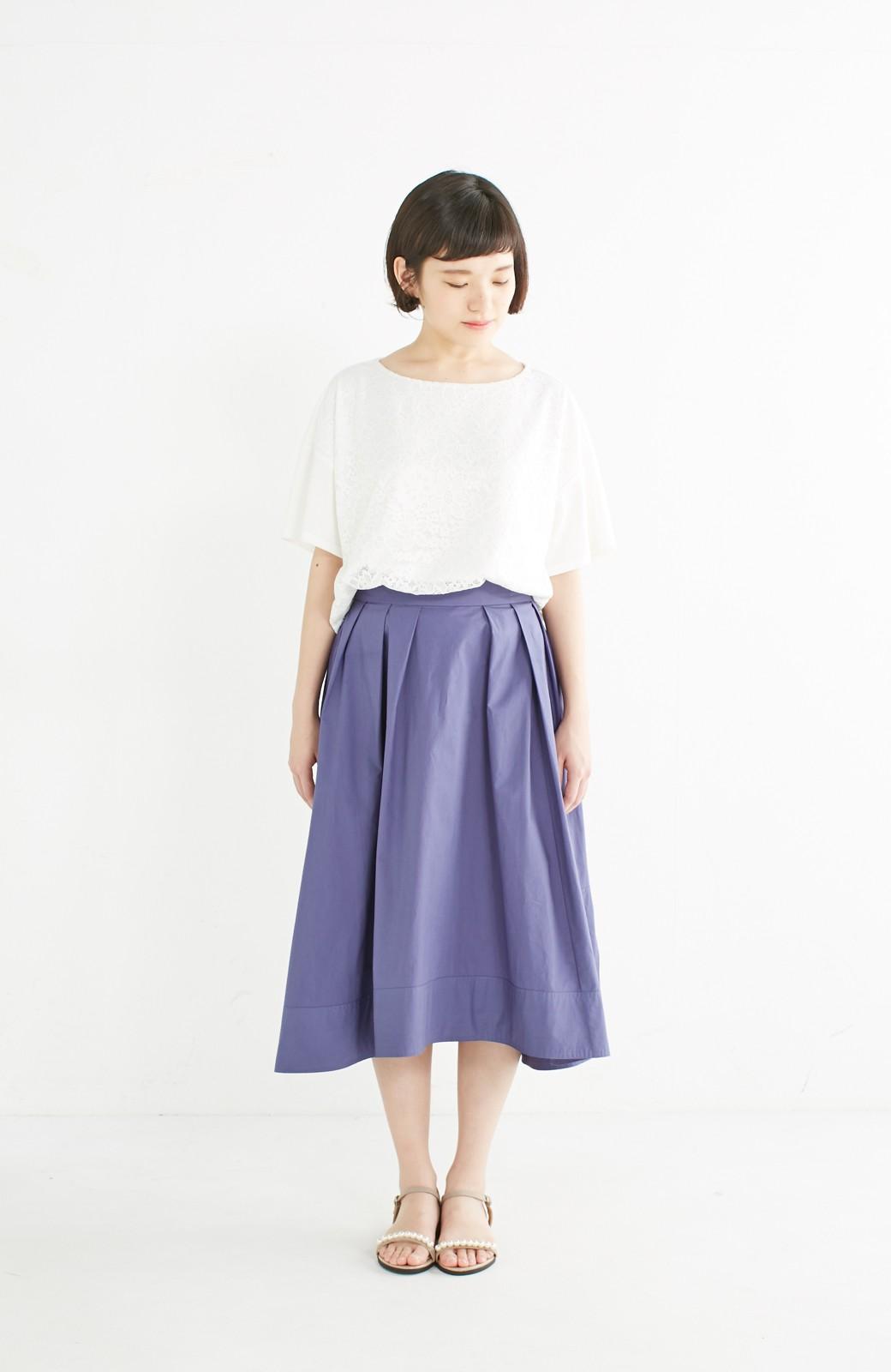 エムトロワ きれい色のイレギュラーヘムスカート <ブルー>の商品写真9