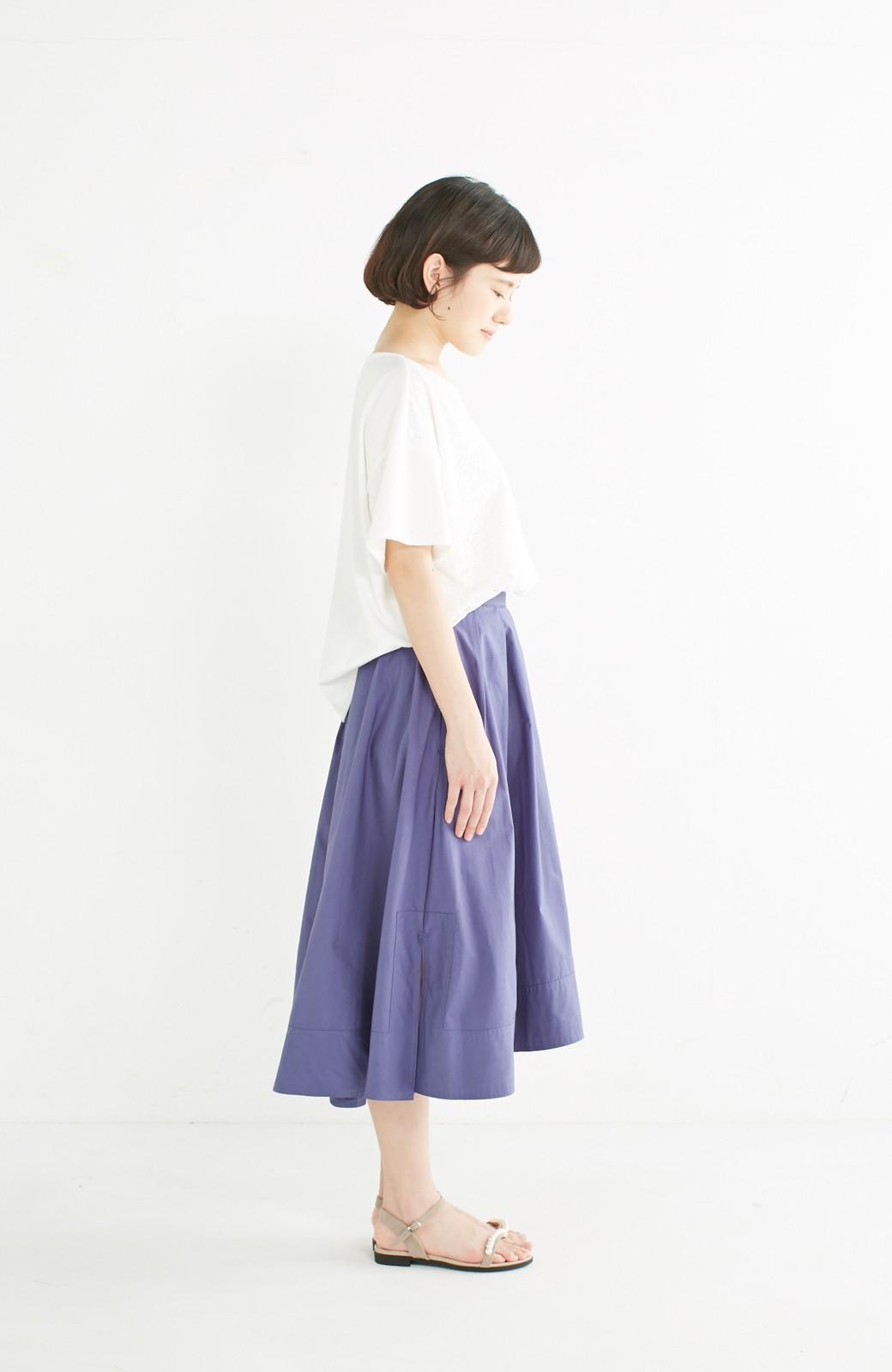 エムトロワ きれい色のイレギュラーヘムスカート <ブルー>の商品写真10