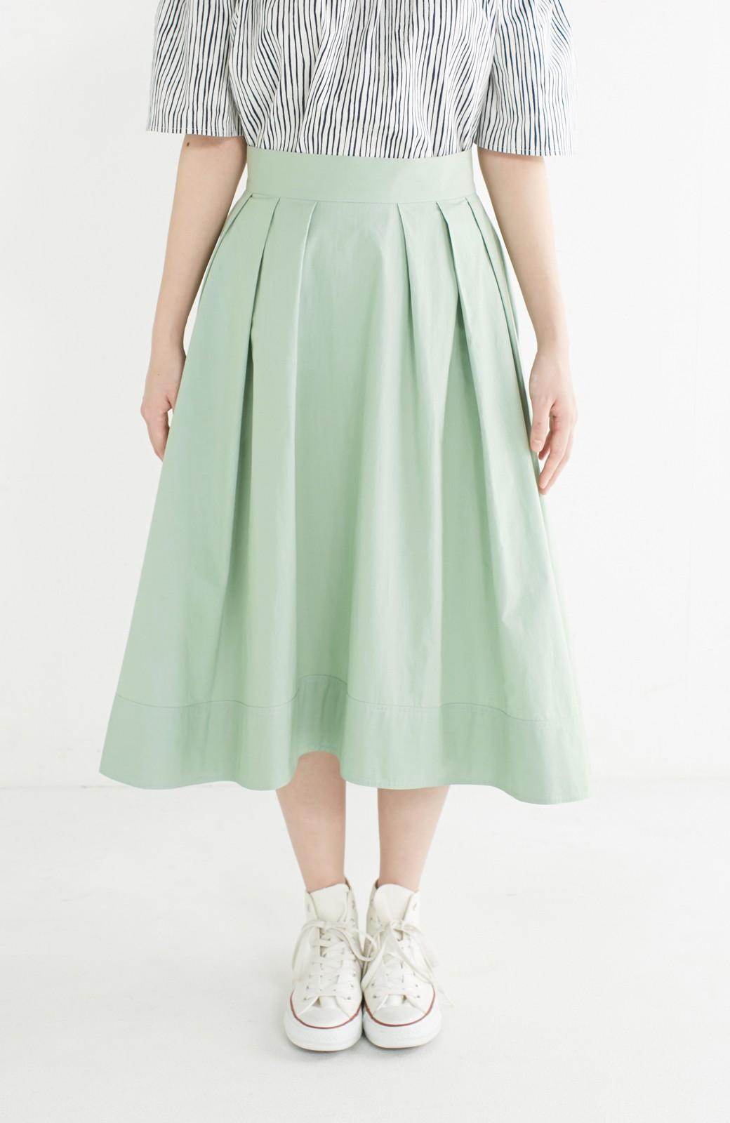 エムトロワ きれい色のイレギュラーヘムスカート <グリーン>の商品写真3