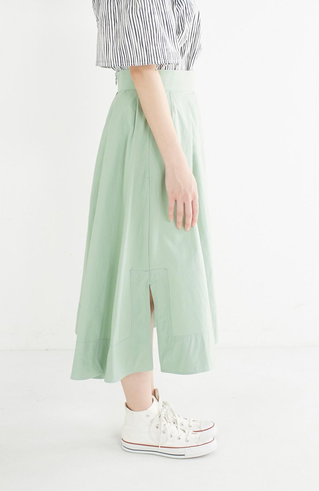 エムトロワ きれい色のイレギュラーヘムスカート <グリーン>の商品写真4