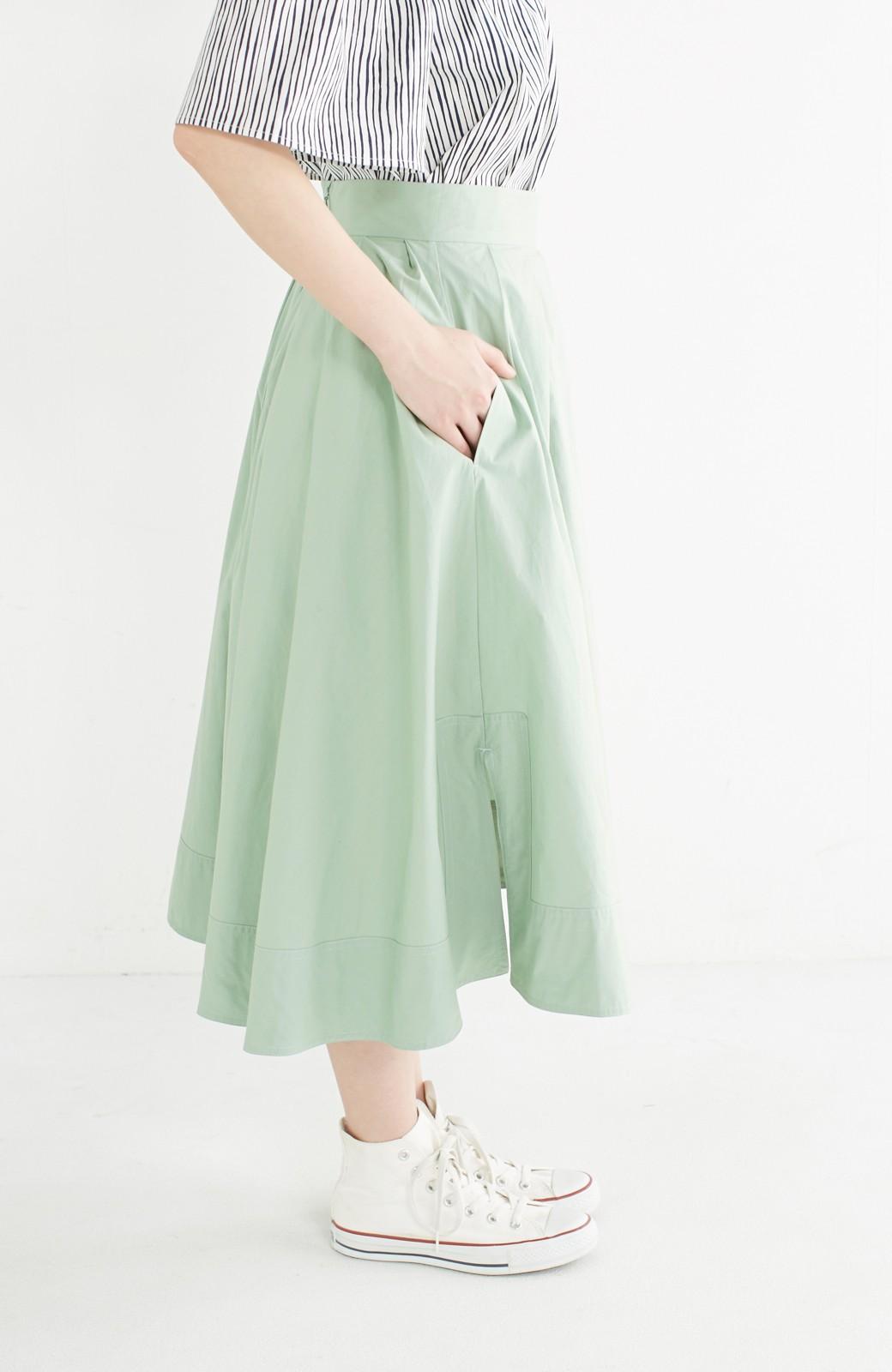 エムトロワ きれい色のイレギュラーヘムスカート <グリーン>の商品写真5