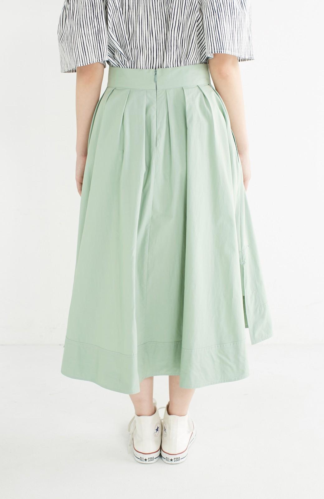 エムトロワ きれい色のイレギュラーヘムスカート <グリーン>の商品写真6