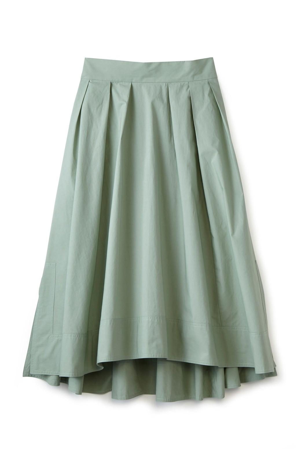 エムトロワ きれい色のイレギュラーヘムスカート <グリーン>の商品写真1