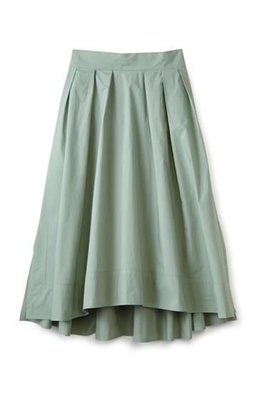 エムトロワ きれい色のイレギュラーヘムスカート <グリーン>の商品写真