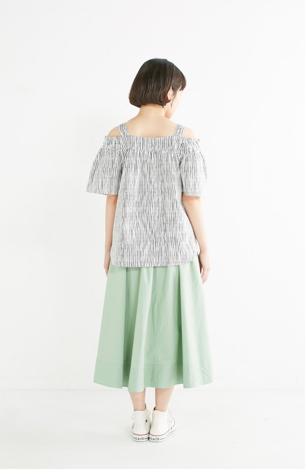 エムトロワ きれい色のイレギュラーヘムスカート <グリーン>の商品写真13