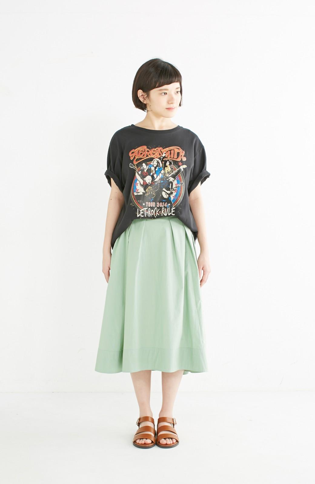 エムトロワ きれい色のイレギュラーヘムスカート <グリーン>の商品写真7