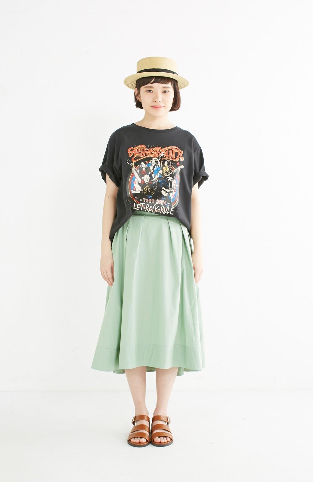エムトロワ きれい色のイレギュラーヘムスカート <グリーン>の商品写真8