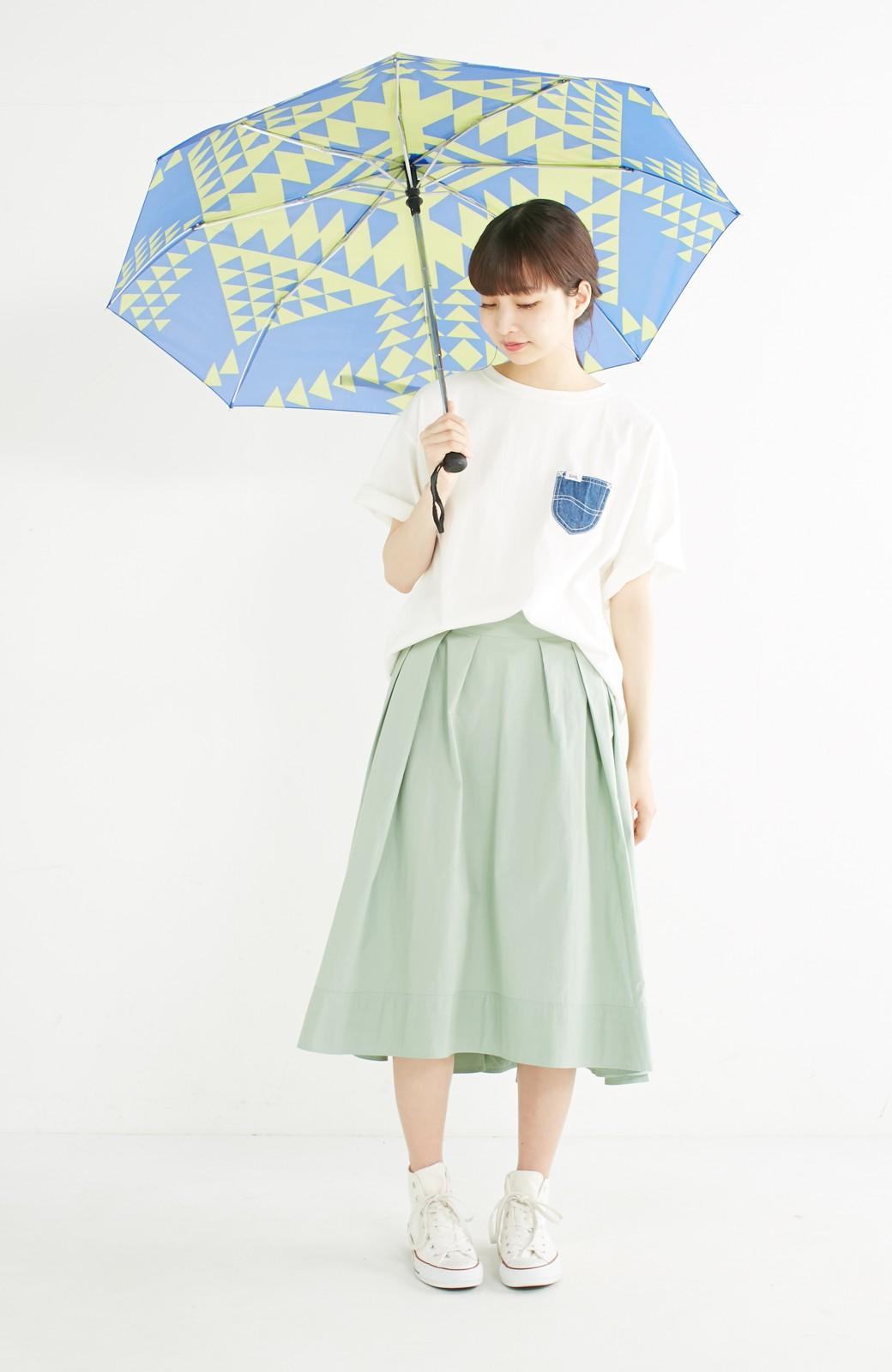 エムトロワ きれい色のイレギュラーヘムスカート <グリーン>の商品写真10