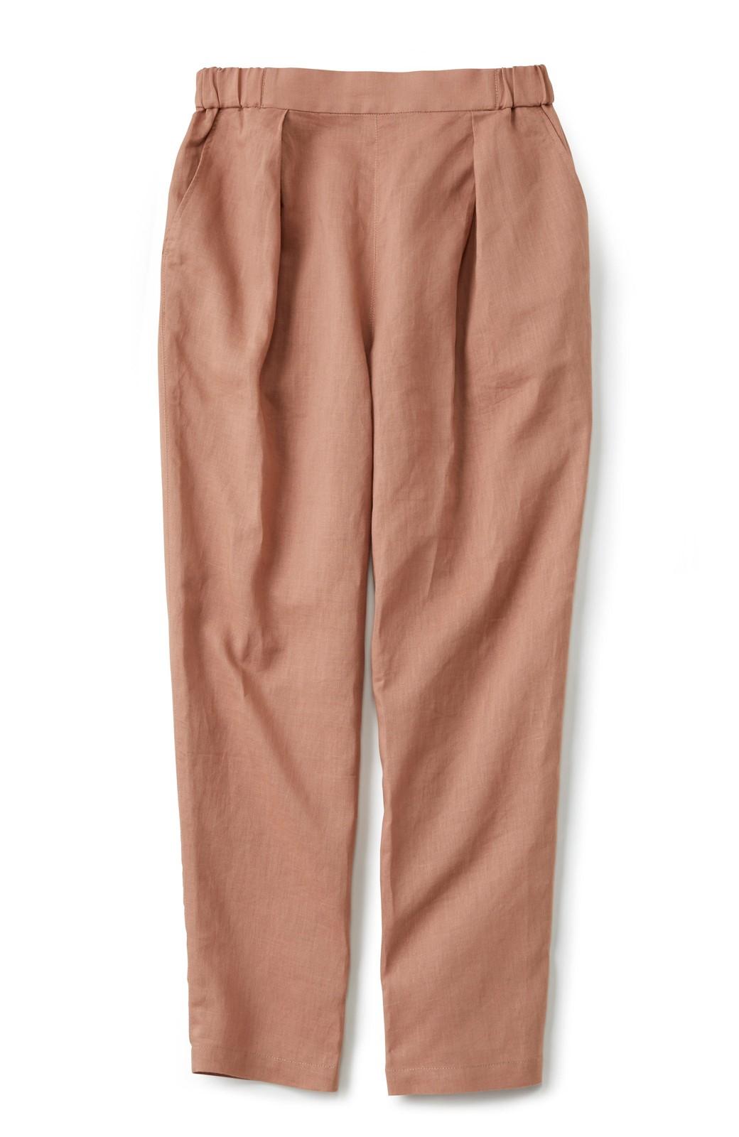 nusy 着るほどになじむ 綿麻素材のテーパードパンツ <ピンクベージュ>の商品写真1