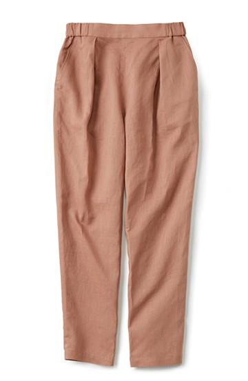nusy 着るほどになじむ 綿麻素材のテーパードパンツ <ピンクベージュ>の商品写真