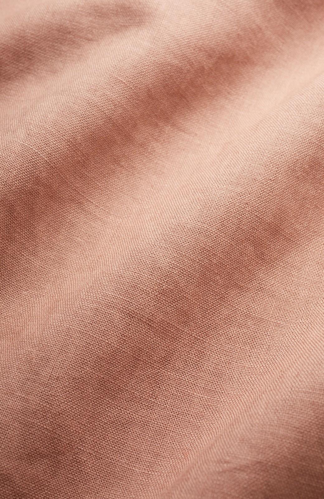 nusy 着るほどになじむ 綿麻素材のテーパードパンツ <ピンクベージュ>の商品写真2