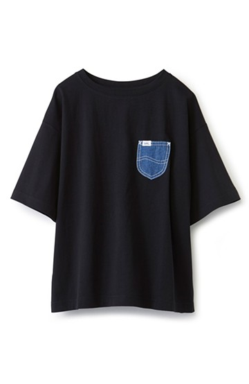 haco! 別注 Lee デニムポケットゆるTシャツ <ブラック>の商品写真