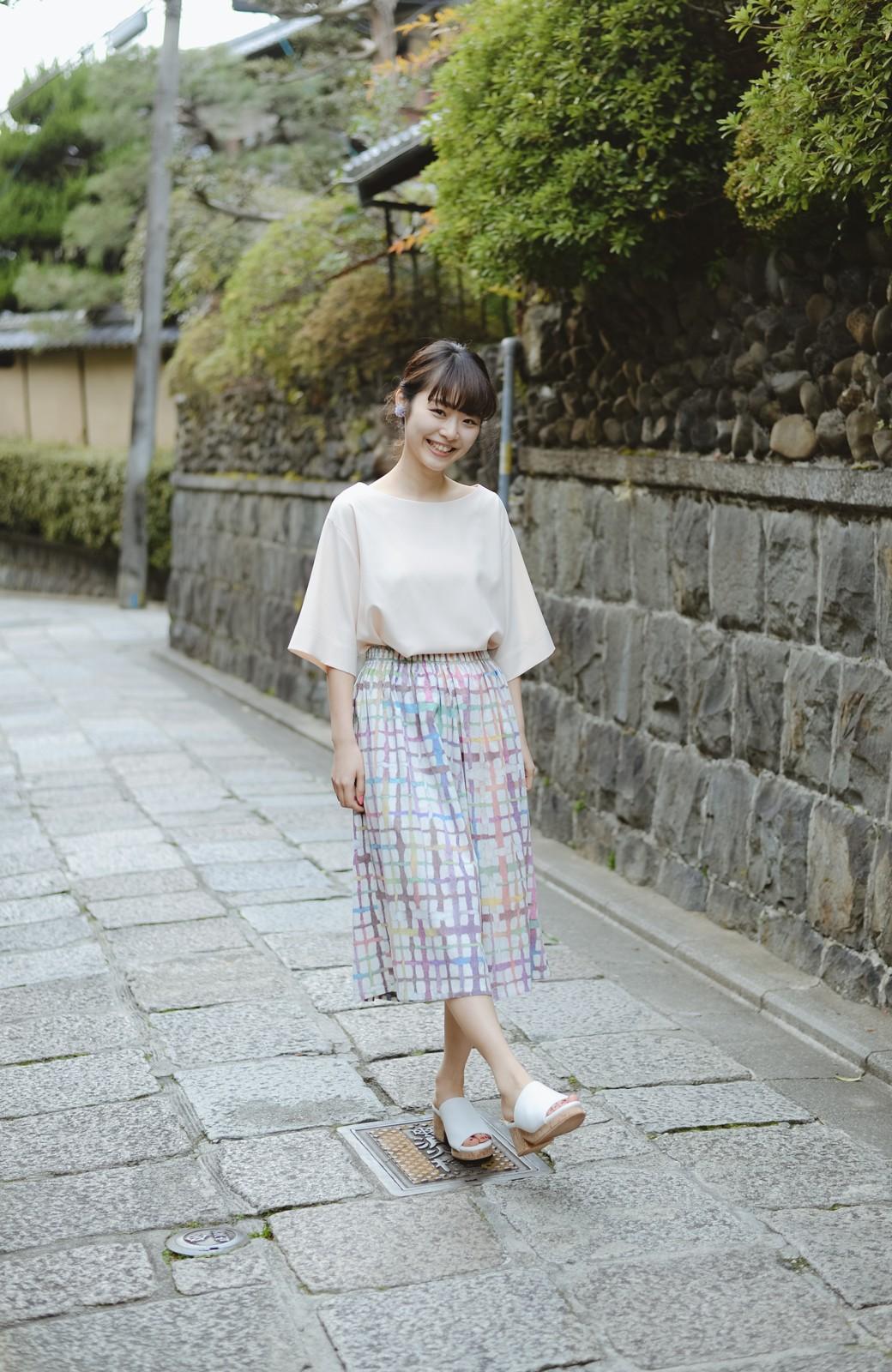 haco! 京都の浴衣屋さんと作った浴衣生地のスカート <ベージュ系その他>の商品写真11