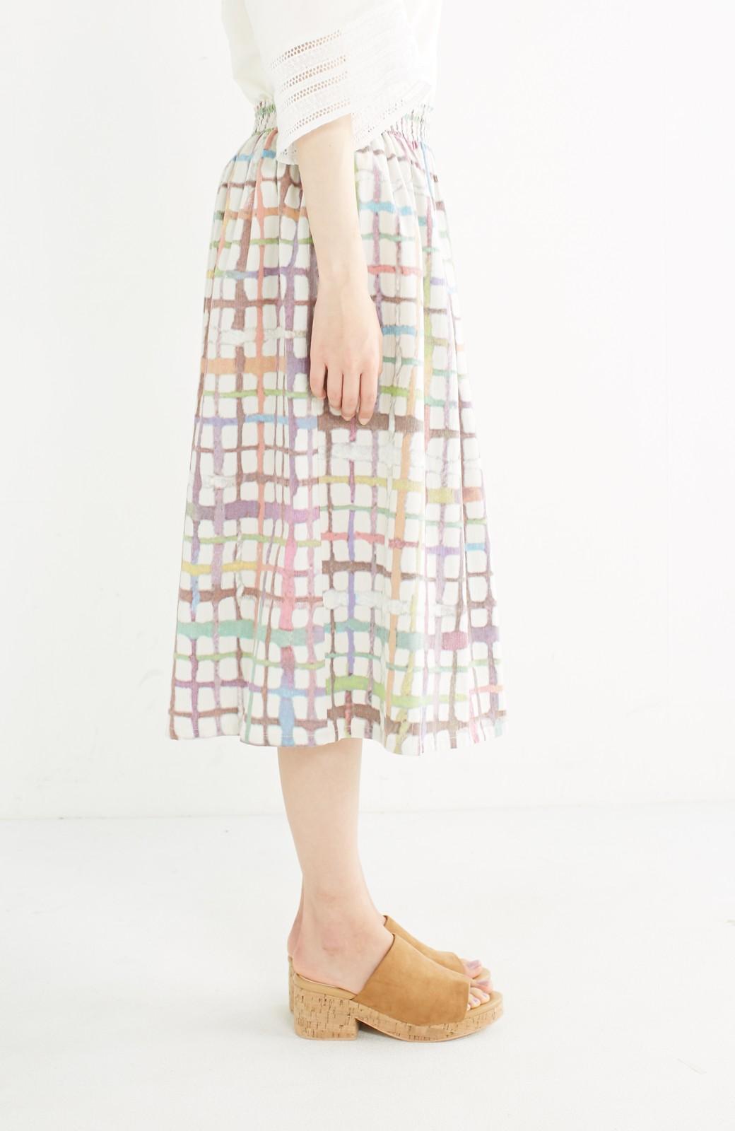 haco! 京都の浴衣屋さんと作った浴衣生地のスカート <ベージュ系その他>の商品写真4