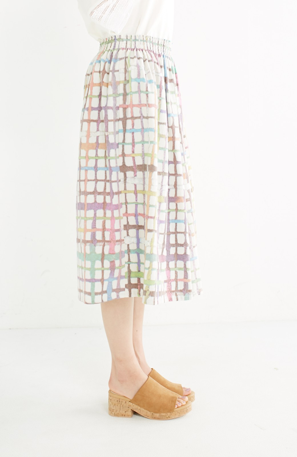 haco! 京都の浴衣屋さんと作った浴衣生地のスカート <ベージュ系その他>の商品写真5