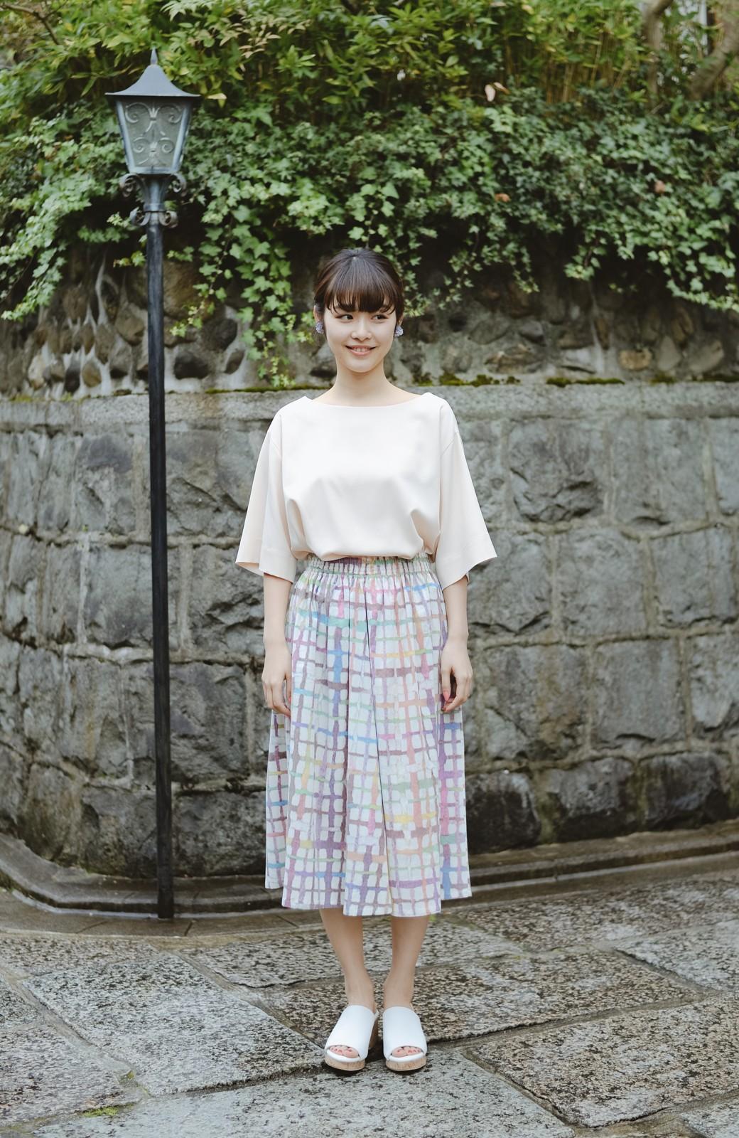 haco! 京都の浴衣屋さんと作った浴衣生地のスカート <ベージュ系その他>の商品写真7