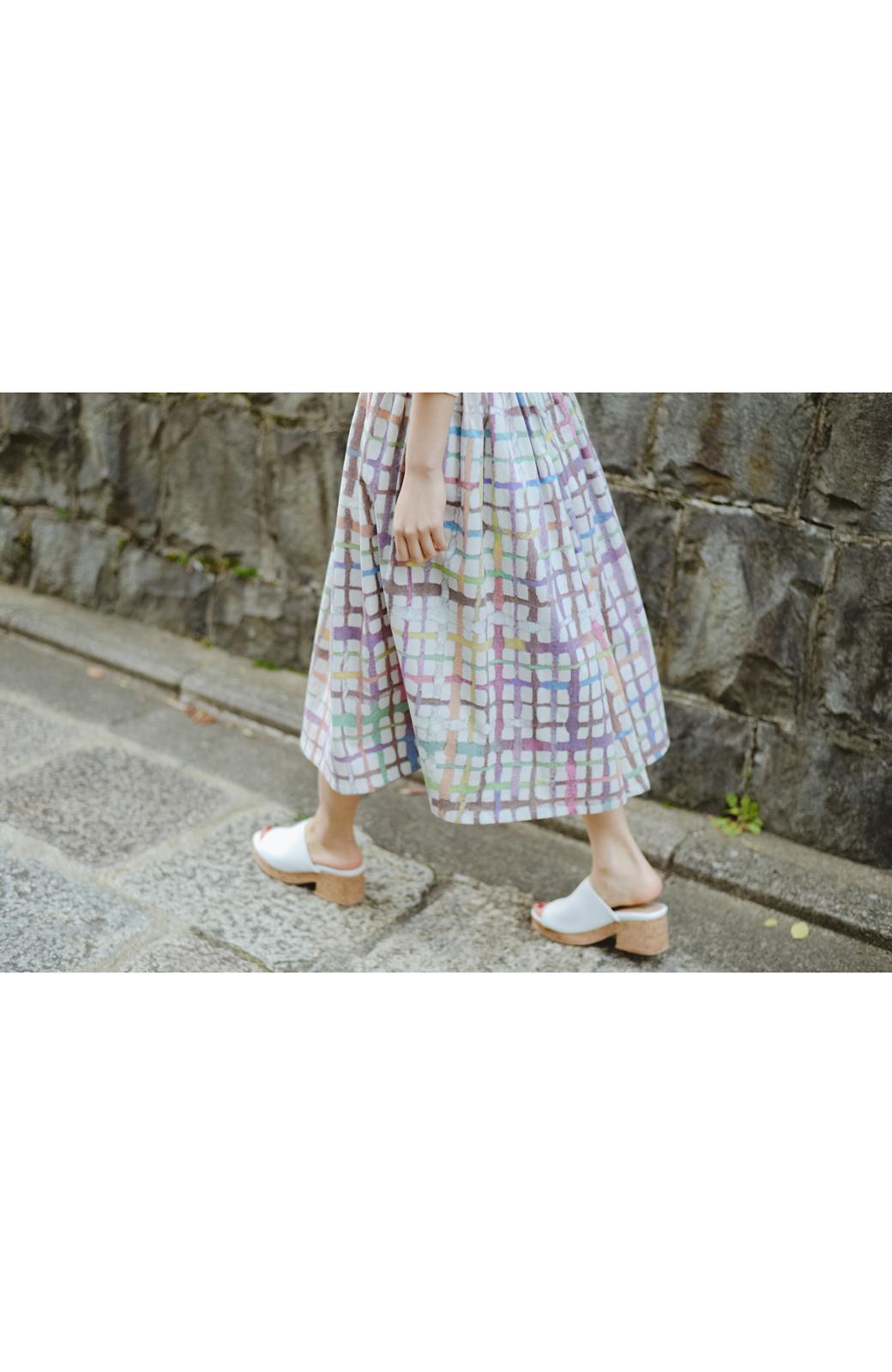 haco! 京都の浴衣屋さんと作った浴衣生地のスカート <ベージュ系その他>の商品写真9