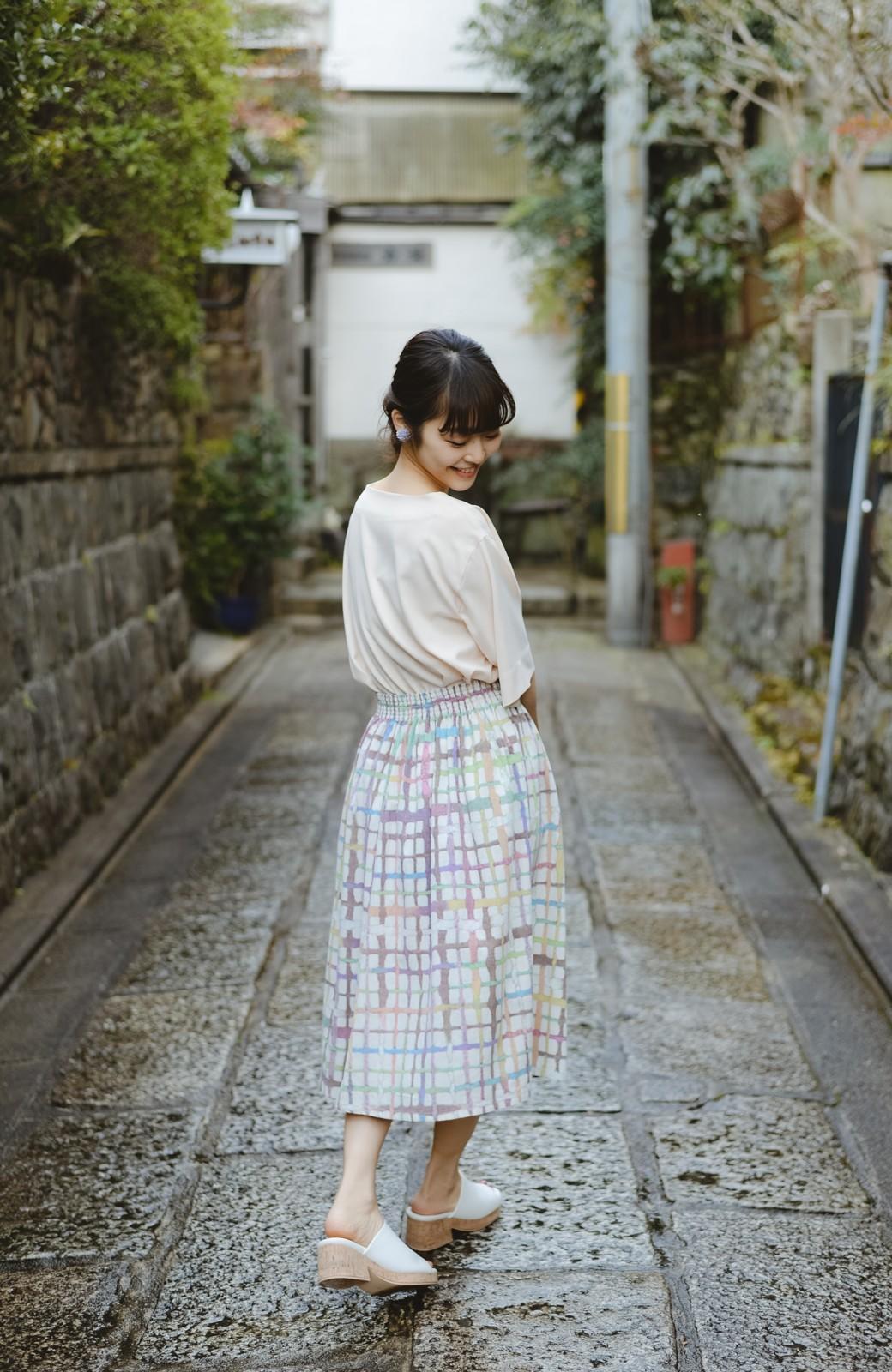 haco! 京都の浴衣屋さんと作った浴衣生地のスカート <ベージュ系その他>の商品写真10