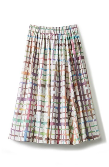haco! 京都の浴衣屋さんと作った浴衣生地のスカート <ベージュ系その他>の商品写真