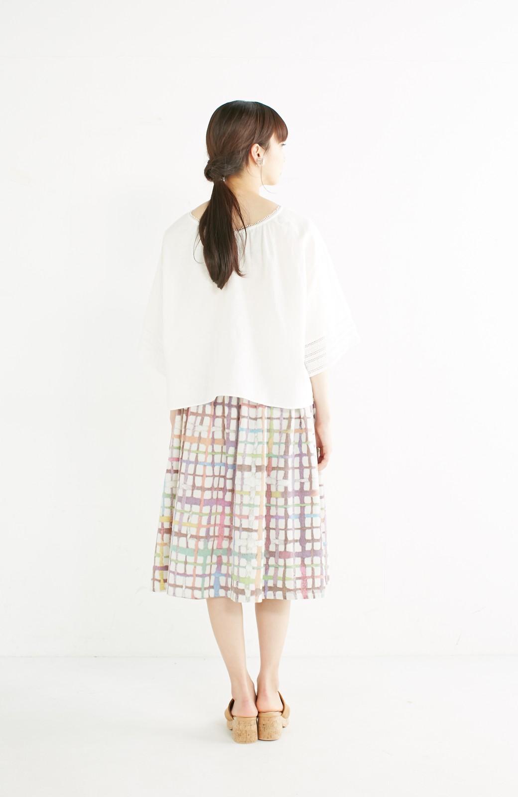 haco! 京都の浴衣屋さんと作った浴衣生地のスカート <ベージュ系その他>の商品写真15