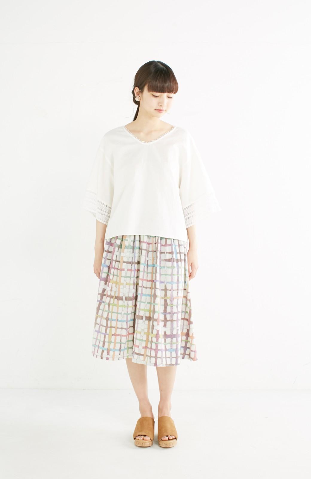 haco! 京都の浴衣屋さんと作った浴衣生地のスカート <ベージュ系その他>の商品写真12