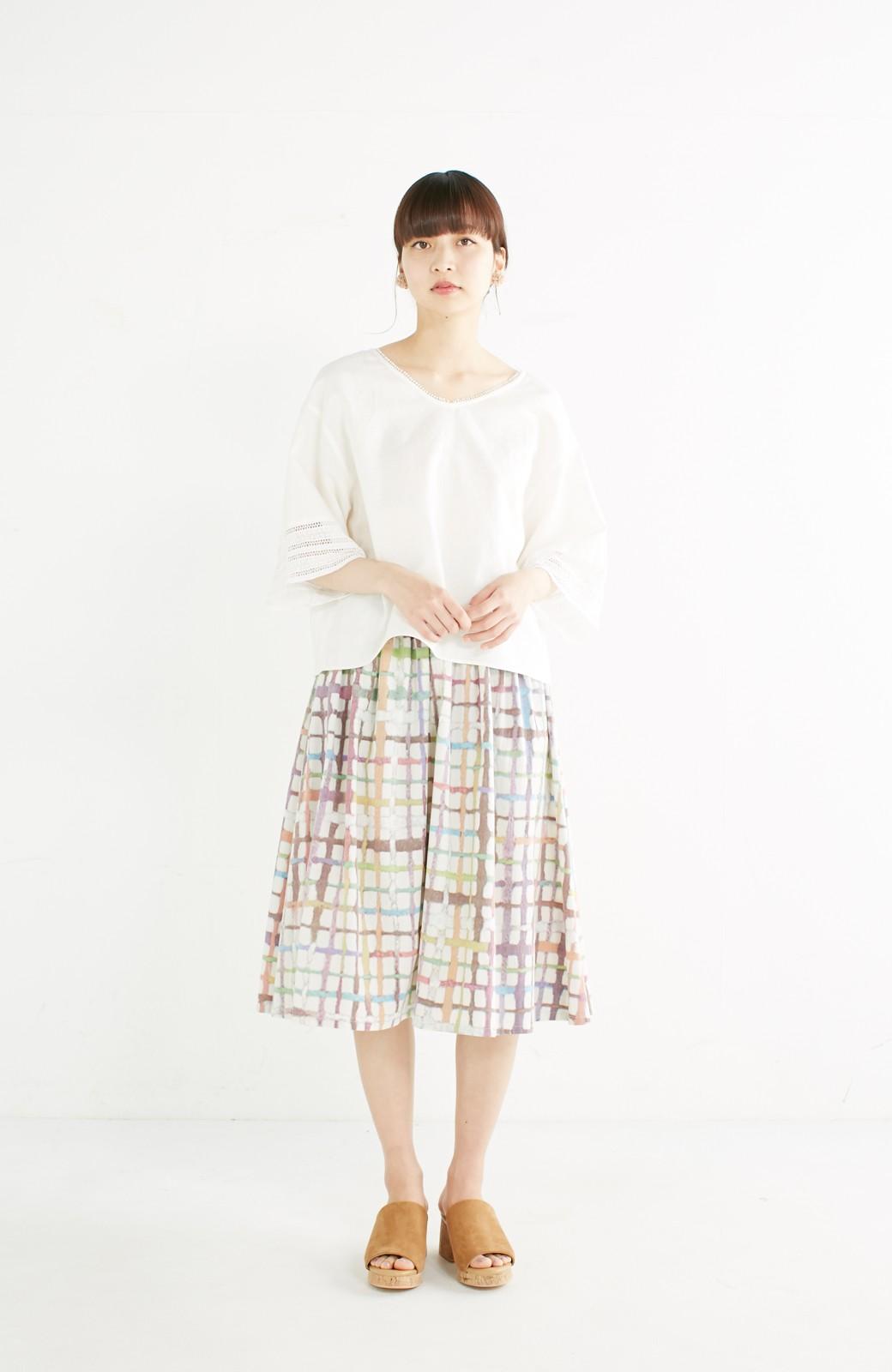 haco! 京都の浴衣屋さんと作った浴衣生地のスカート <ベージュ系その他>の商品写真13