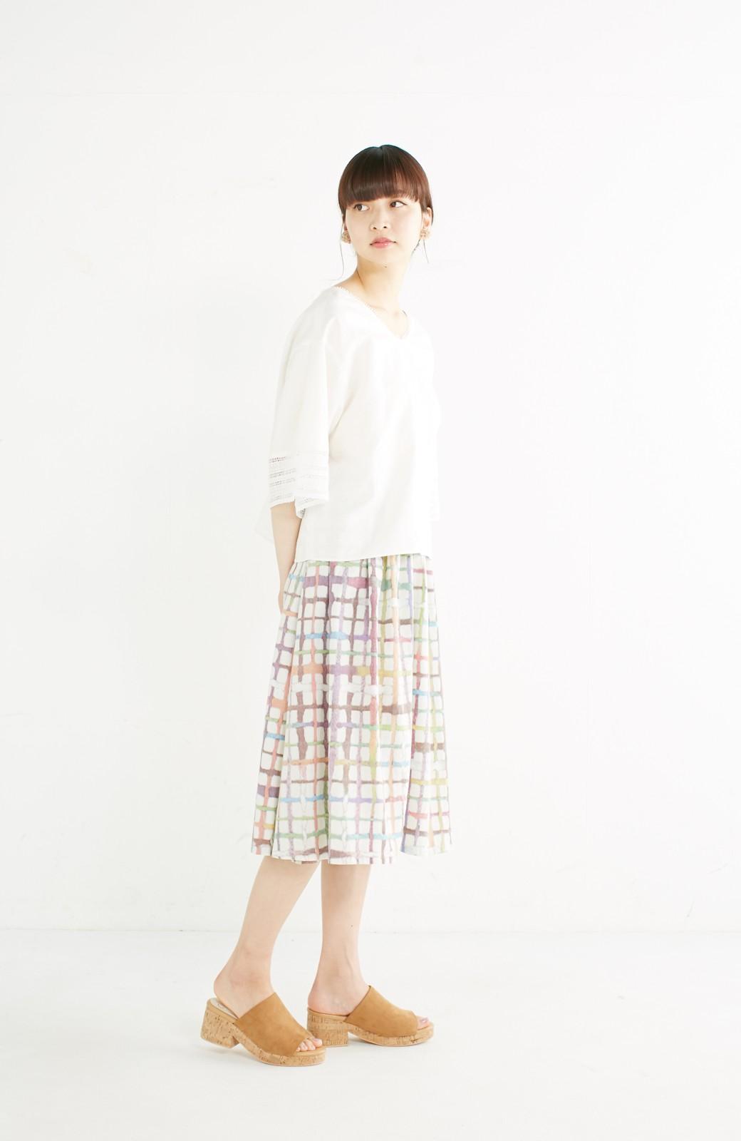 haco! 京都の浴衣屋さんと作った浴衣生地のスカート <ベージュ系その他>の商品写真14